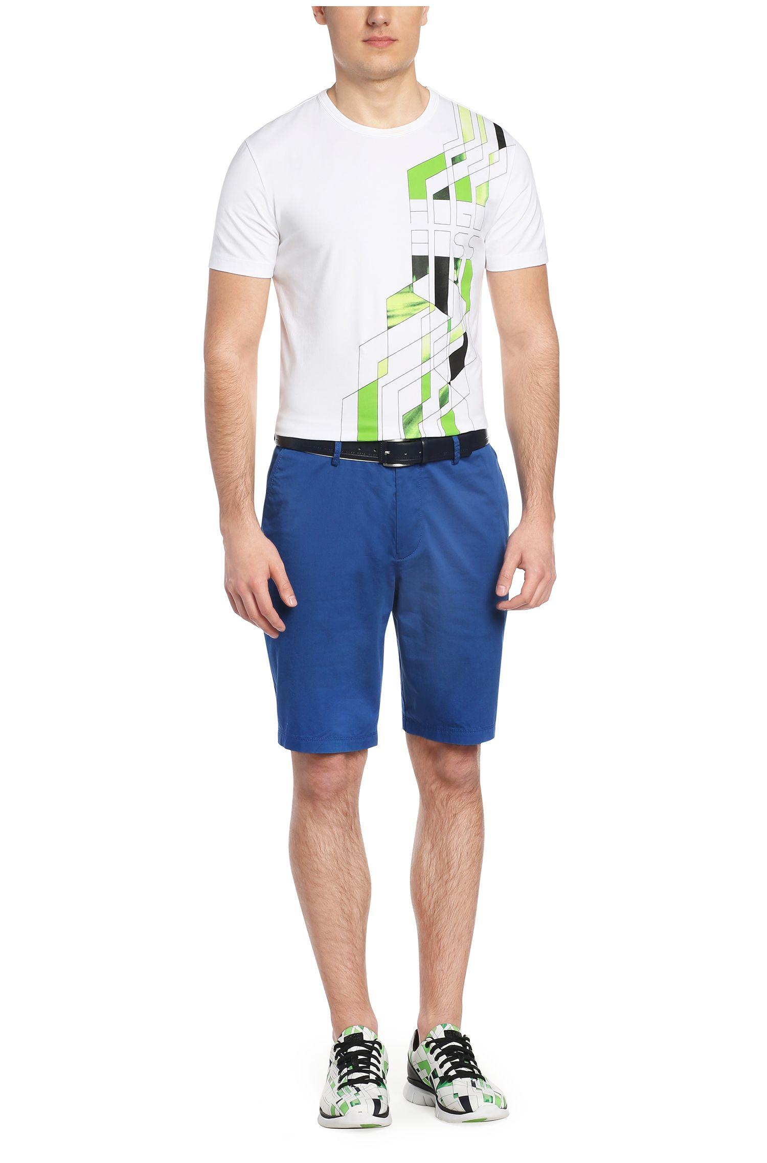 Regular-Fit Shorts aus Baumwolle und Elasthan: ´C-Clyde1-14-W`