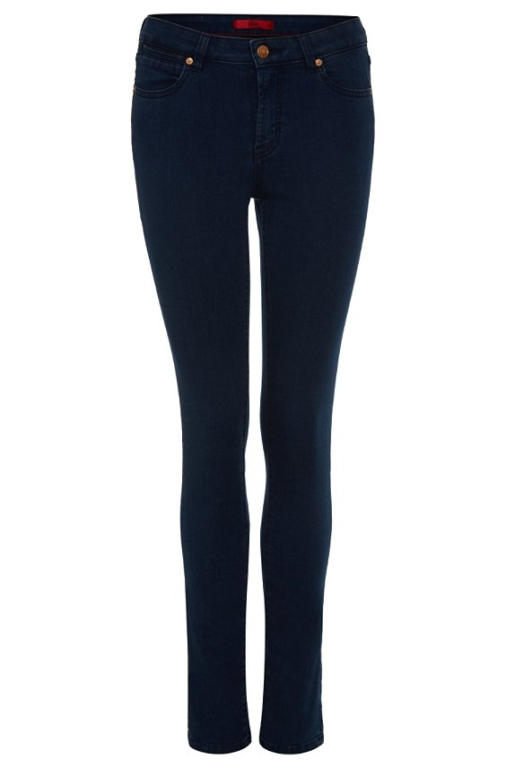 Slim fit jeans in cotton blend: 'Genty', Dark Blue