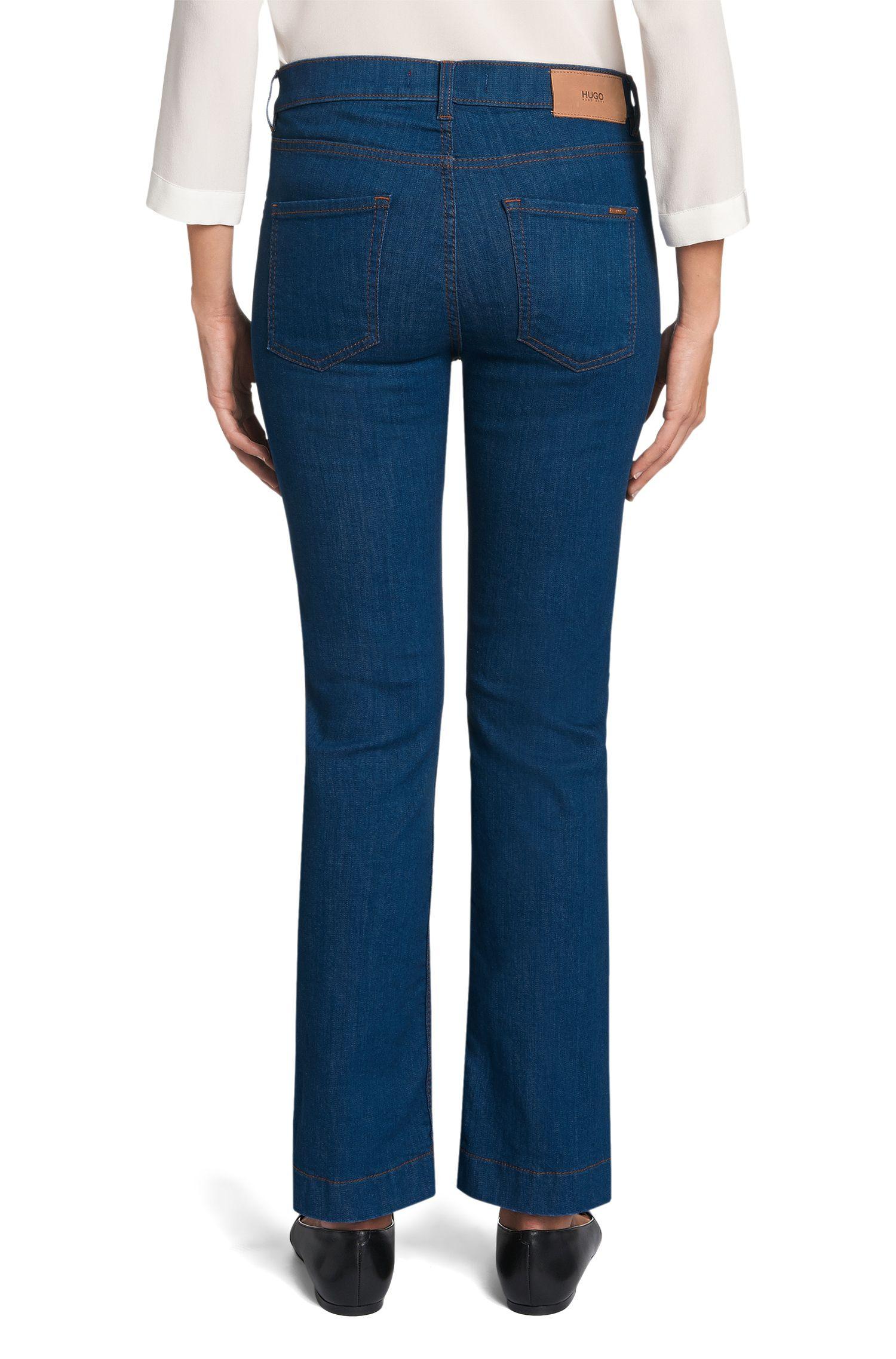 Bootcut Jeans aus Baumwoll-Mix: 'Gissco'