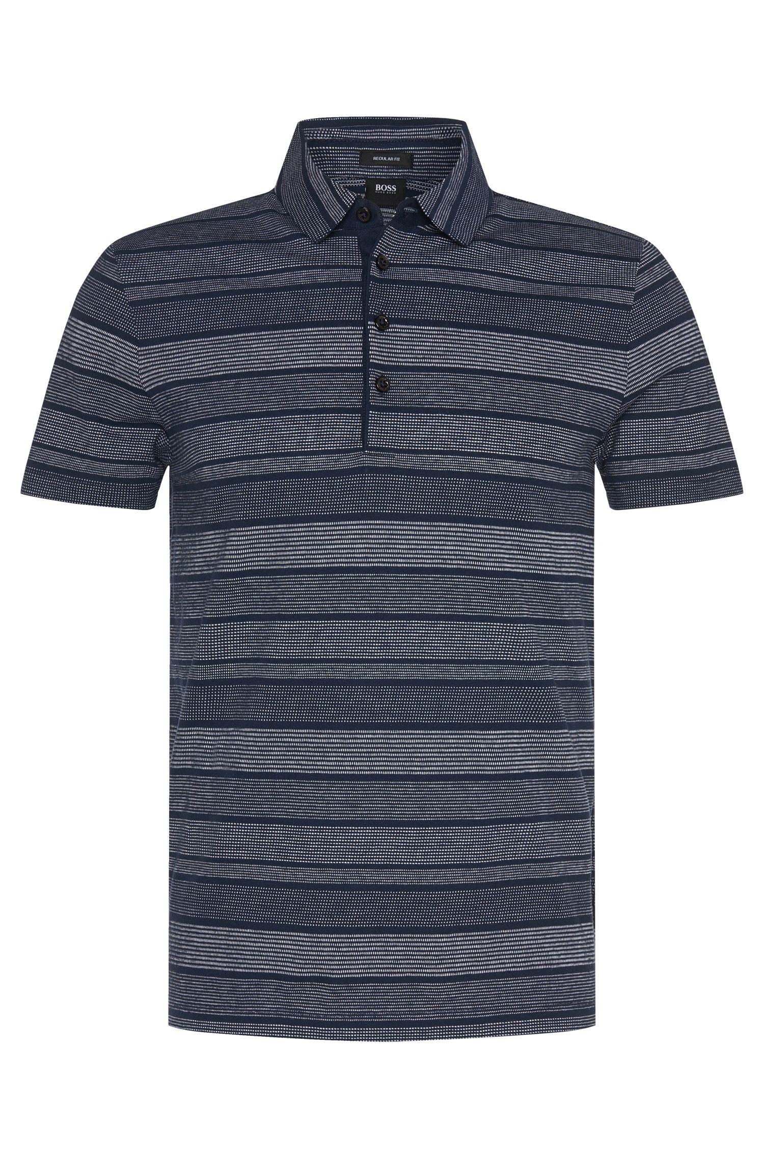 Gestreiftes Regular-Fit Poloshirt aus Baumwoll-Mix: 'Place 03'