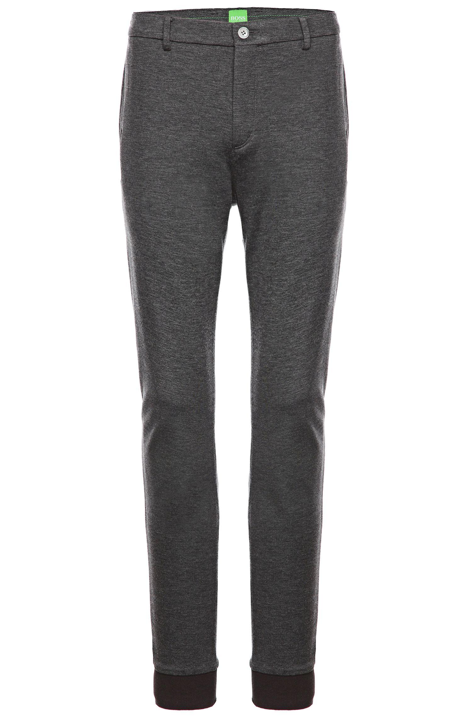Pantalon Tapered Slim Fit en fibre synthétique mélangée: «Lukes7-W»