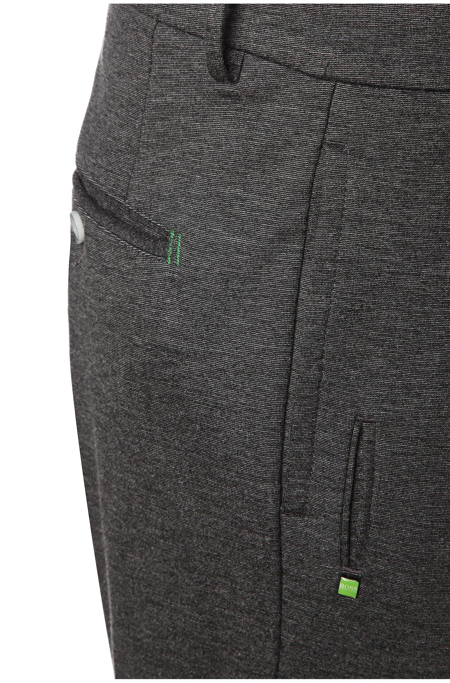 Tapered-Slim-Fit Hose aus Kunstfaser-Mix: ´Lukes 7-W`