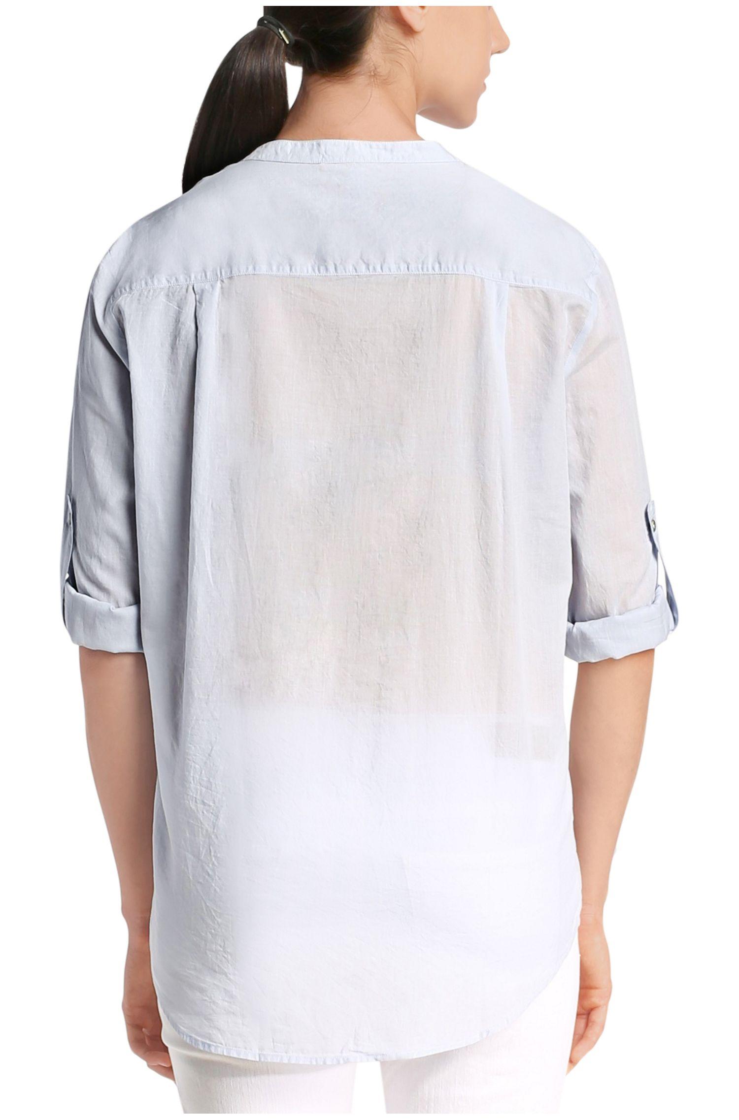 Bluse aus reiner Baumwolle mit Tunika-Schlitz: ´Efelize_6`