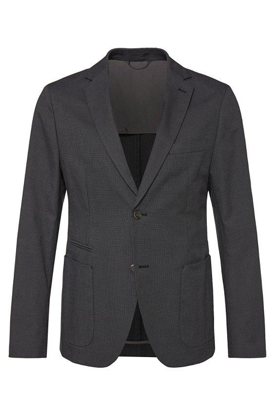 修身夹克:'Marcoz19', 001_黑色