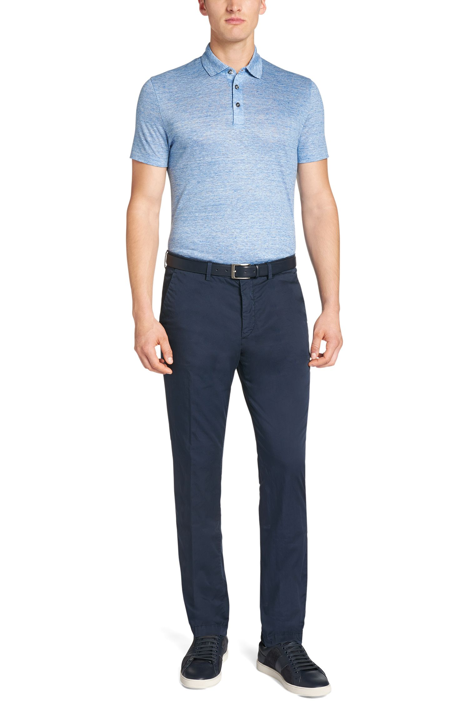 Chino Slim Fit en coton stretch : « Kaito3-D »