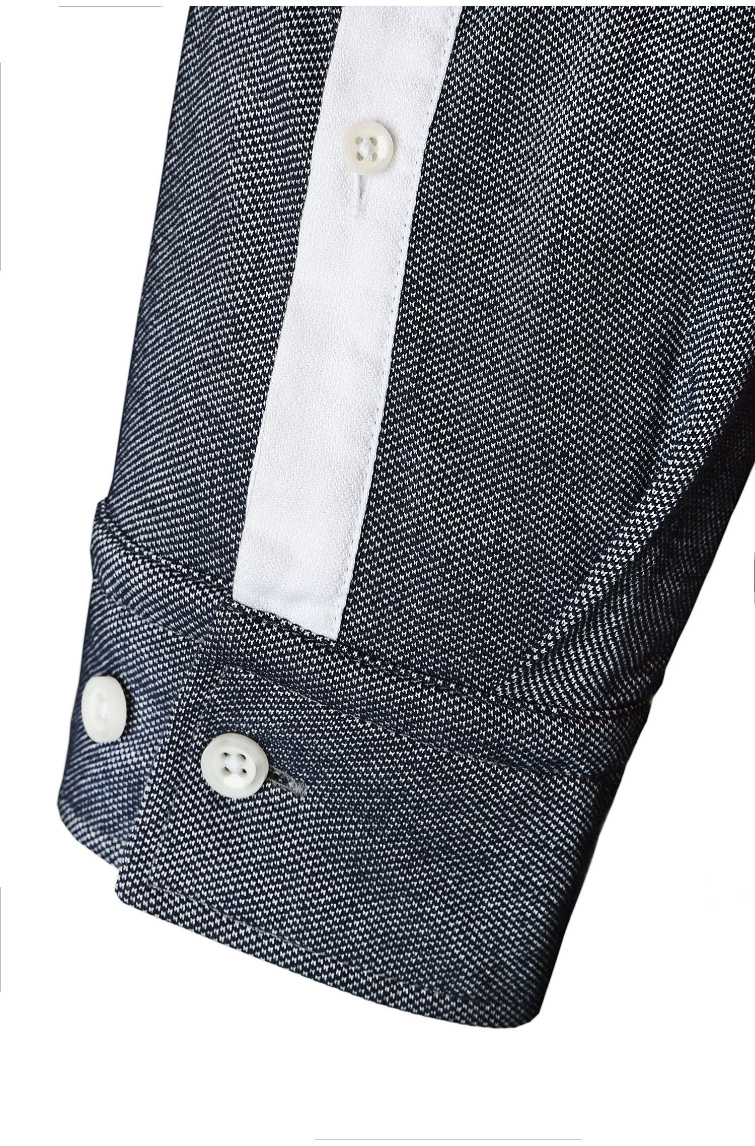 Chemise décontractée Slim Fit en coton: «Bonro»