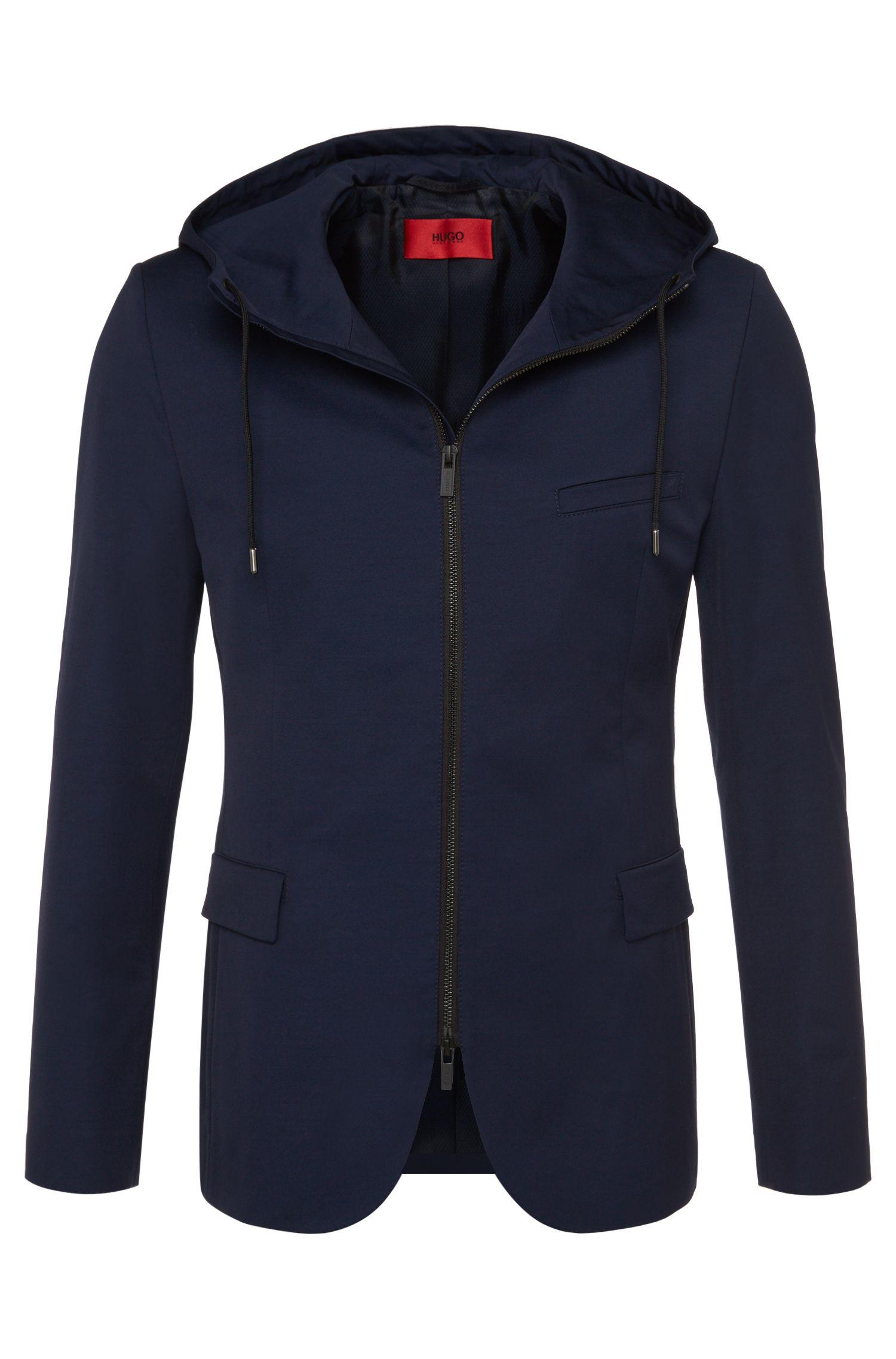 Casual-fit jas van een katoenweefsel: 'Adven'