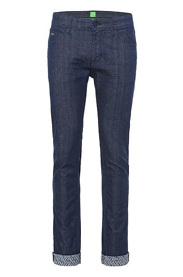 Extra-Slim Fit Jeans aus Baumwoll-Mix: ´Dayan`, Dunkelblau
