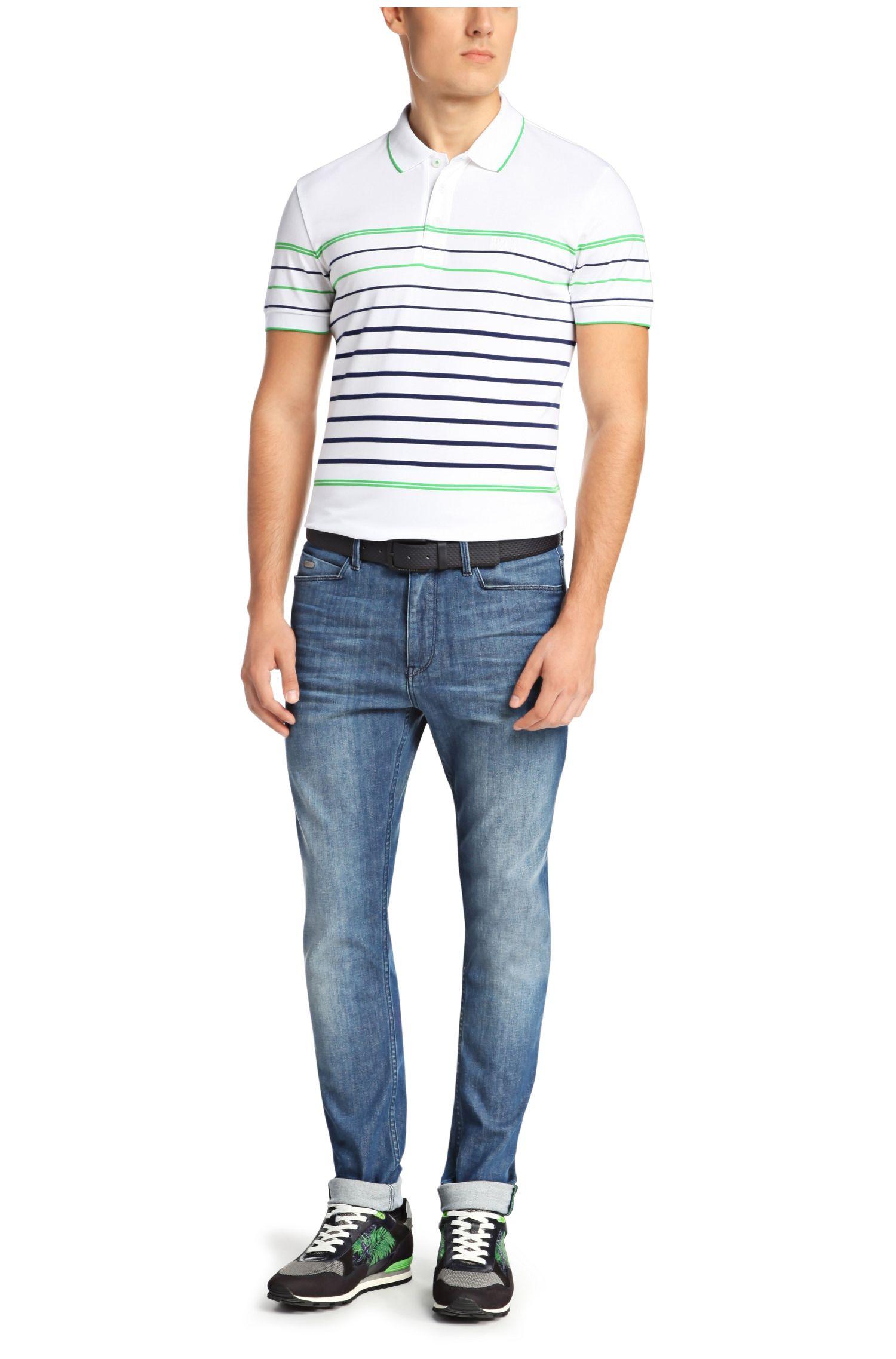 Jeans Tapered Fit en coton stretch: «Derek»