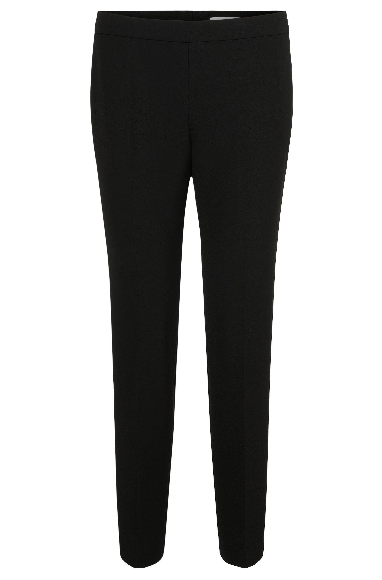 Comfort-fit trousers with viscose and cotton: 'Tiluna_SideZip'