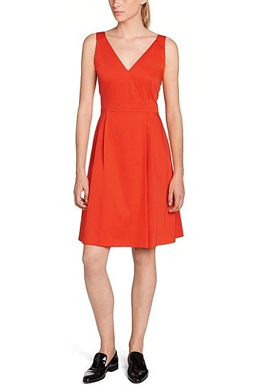 Kleid aus Stretch-Baumwolle: 'Degina', Hellrot