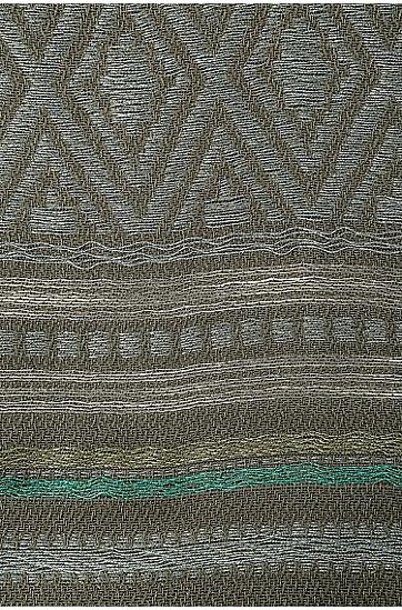 Gemusterter Schal aus Baumwoll-Mix mit Viskose: ´Nelow`, Hellgrün