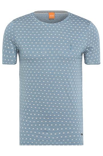 Baumwollshirt mit Stern-Muster: ´Tylon`, Hellblau