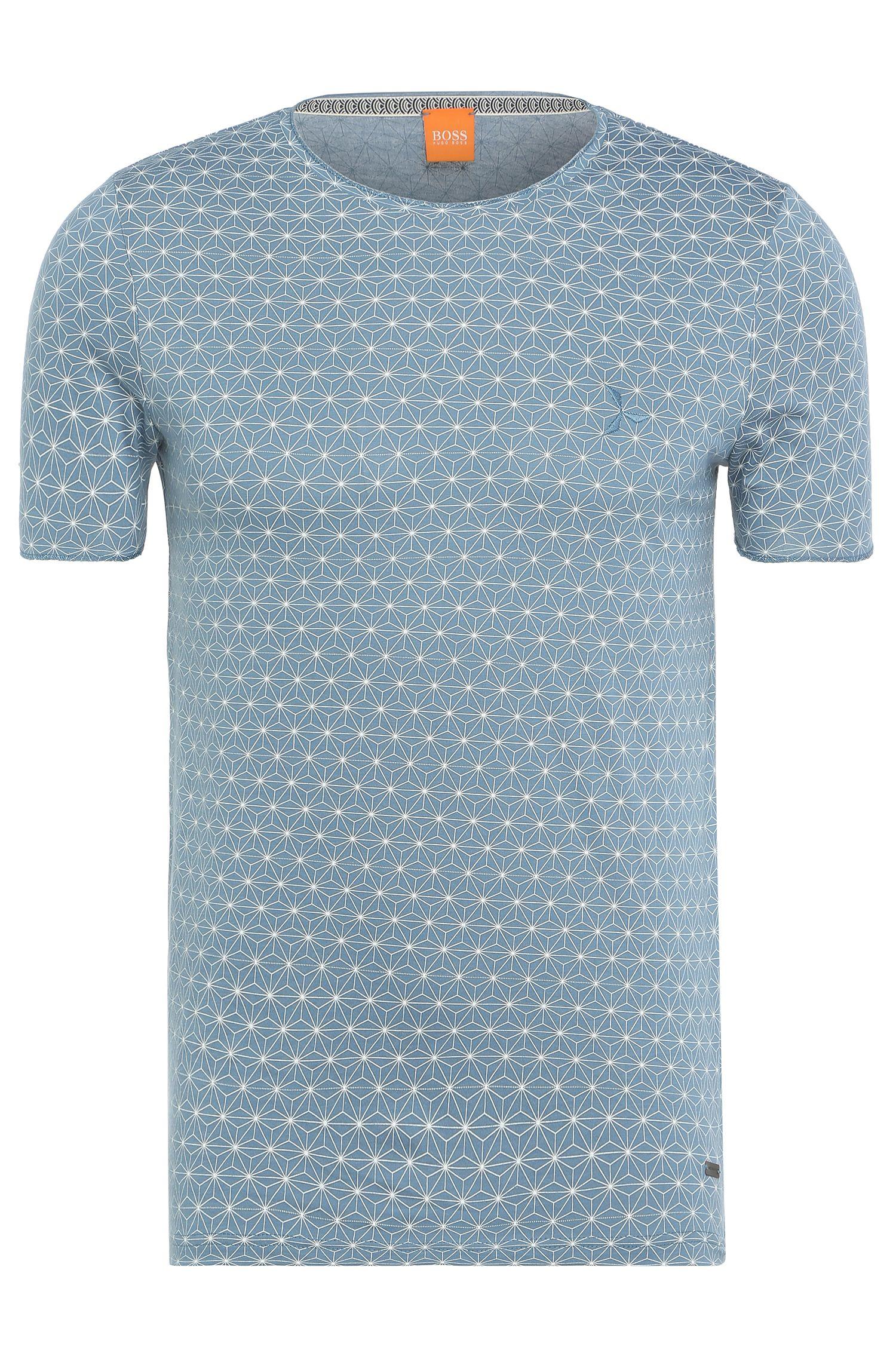 Katoenen shirt met sterrendessin: 'Tylon'