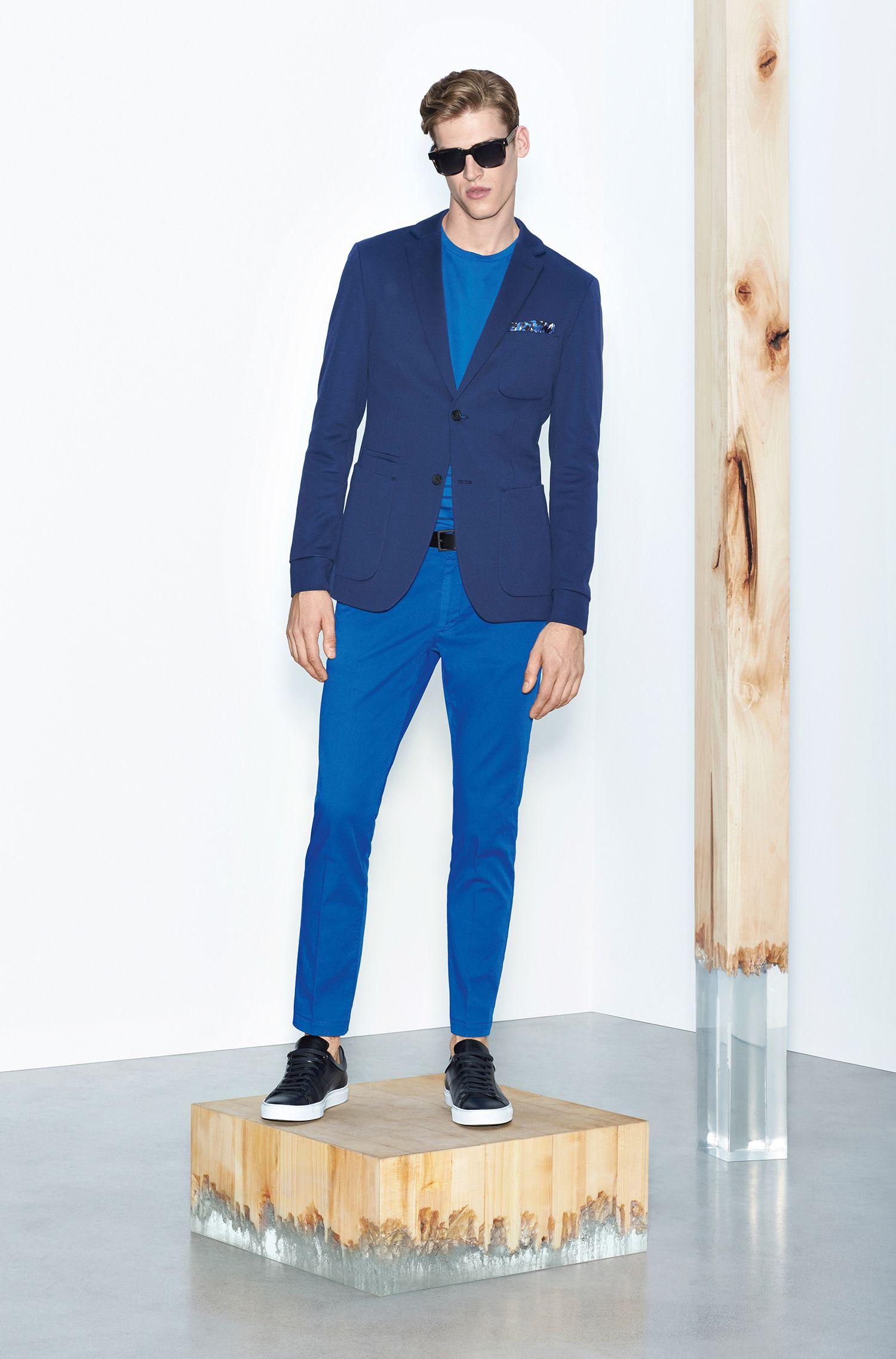 Chino Slim Fit en coton extensible: «Kaito3-D»