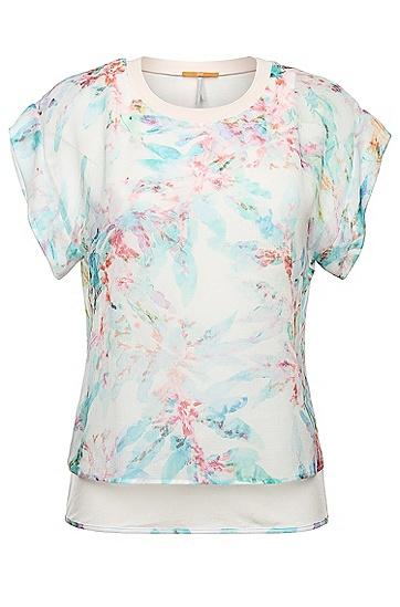 Zartes Print-Shirt: ´Kaflowy`, Gemustert