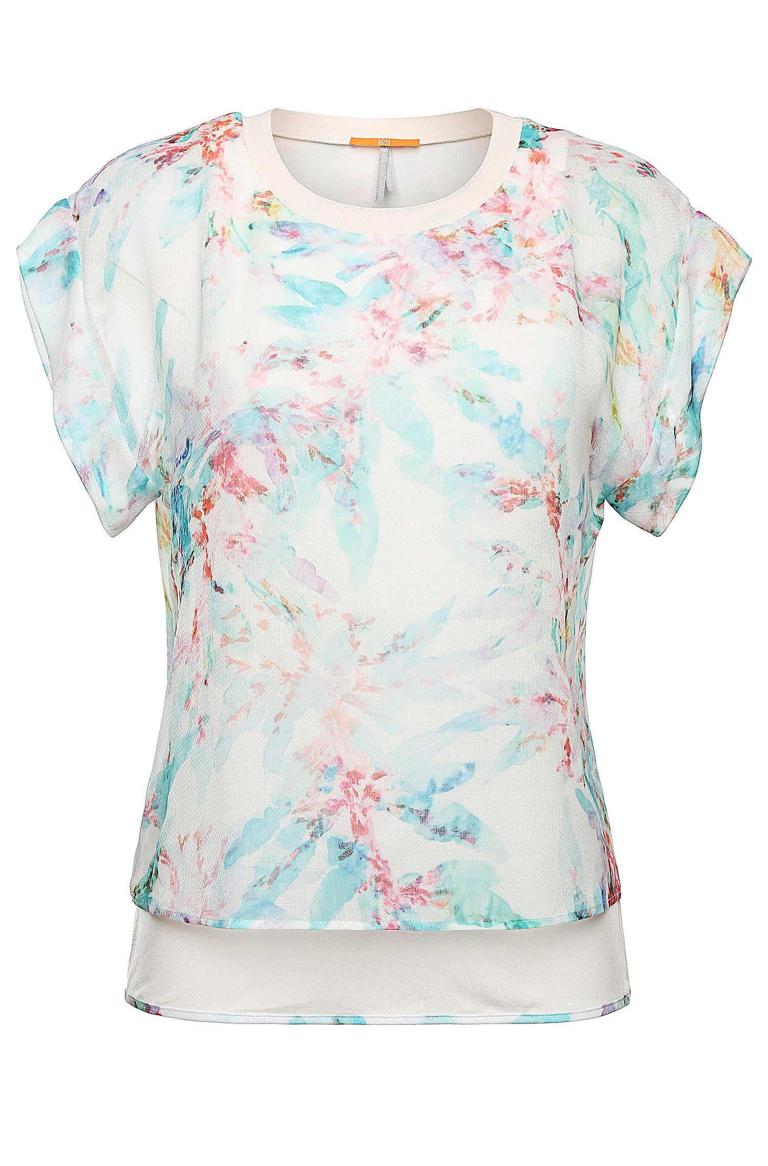 Fin t-shirt imprimé: «Kaflowy»