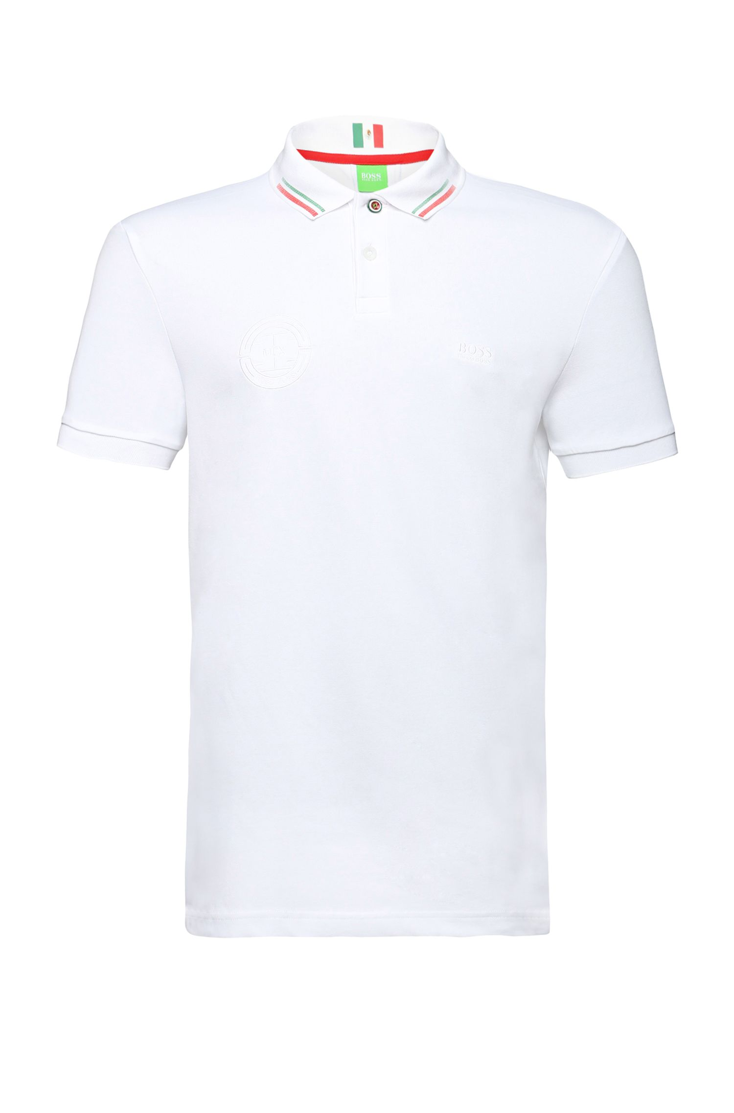 Golf polo shirt in cotton blend: 'Paule Flag'