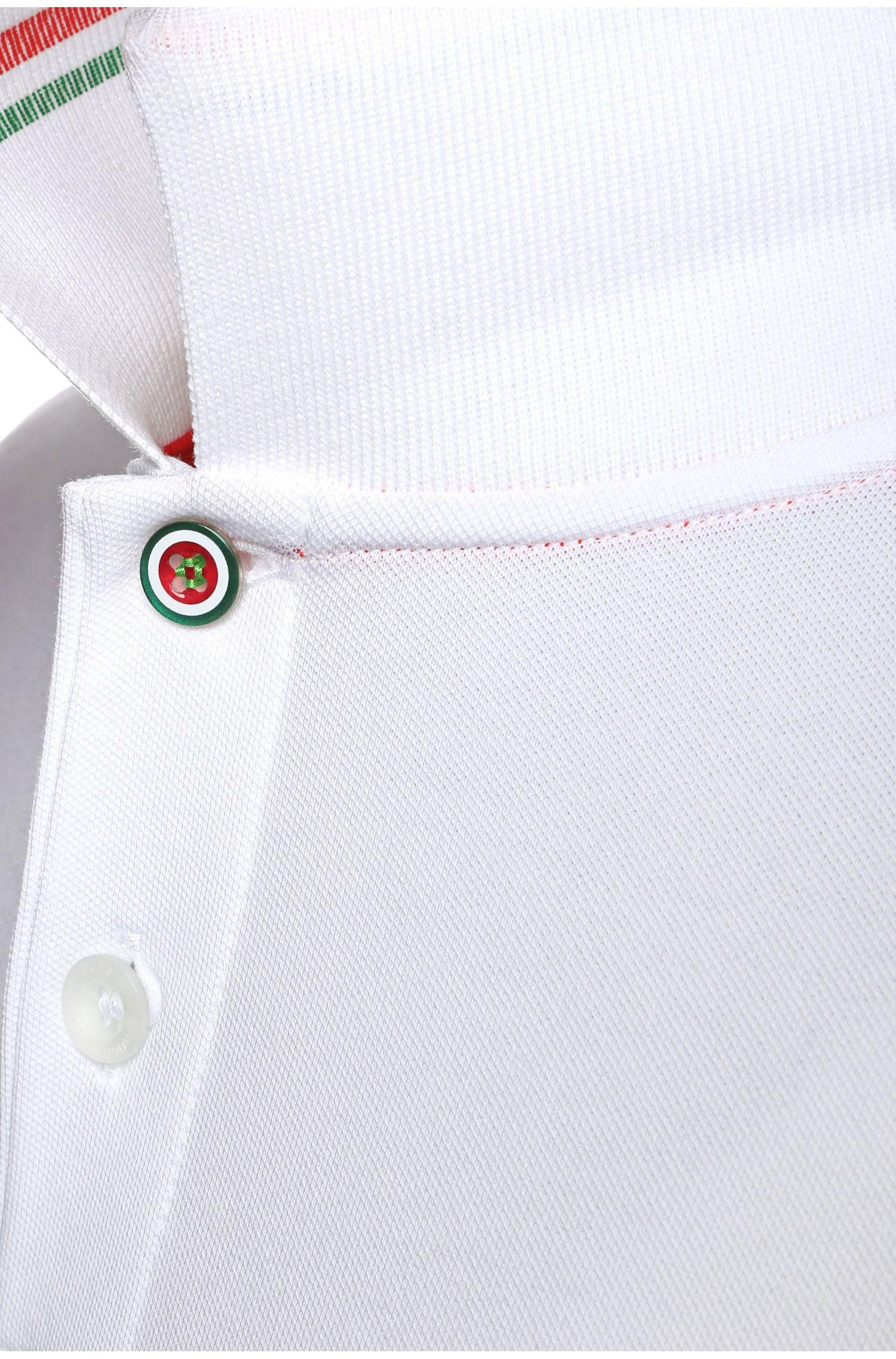 Polo de golf en coton mélangé: «Paule Flag»