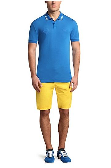 Golf-Polo aus Baumwoll-Gemisch: ´Paule Flag`, Blau