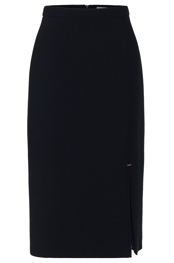 Pencil skirt in new wool: 'Vicilana', Dark Blue