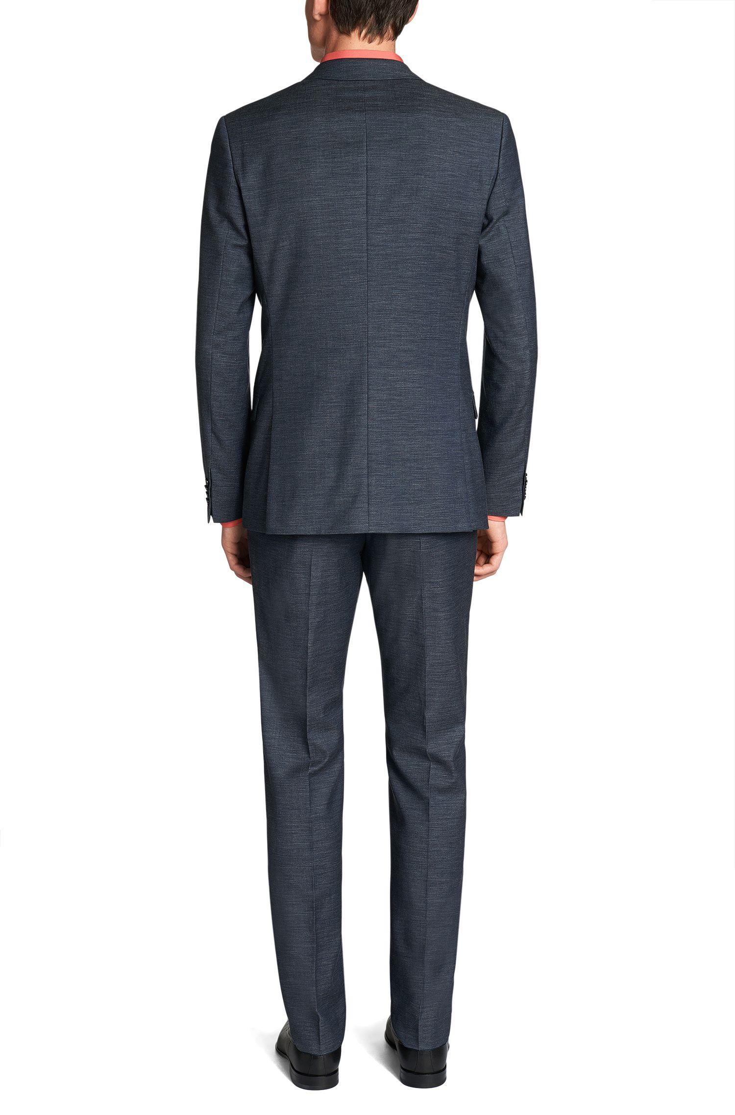 Regular-Fit Anzug aus Schurwoll-Mix mit Baumwollanteil: 'Amaro1/Heise'