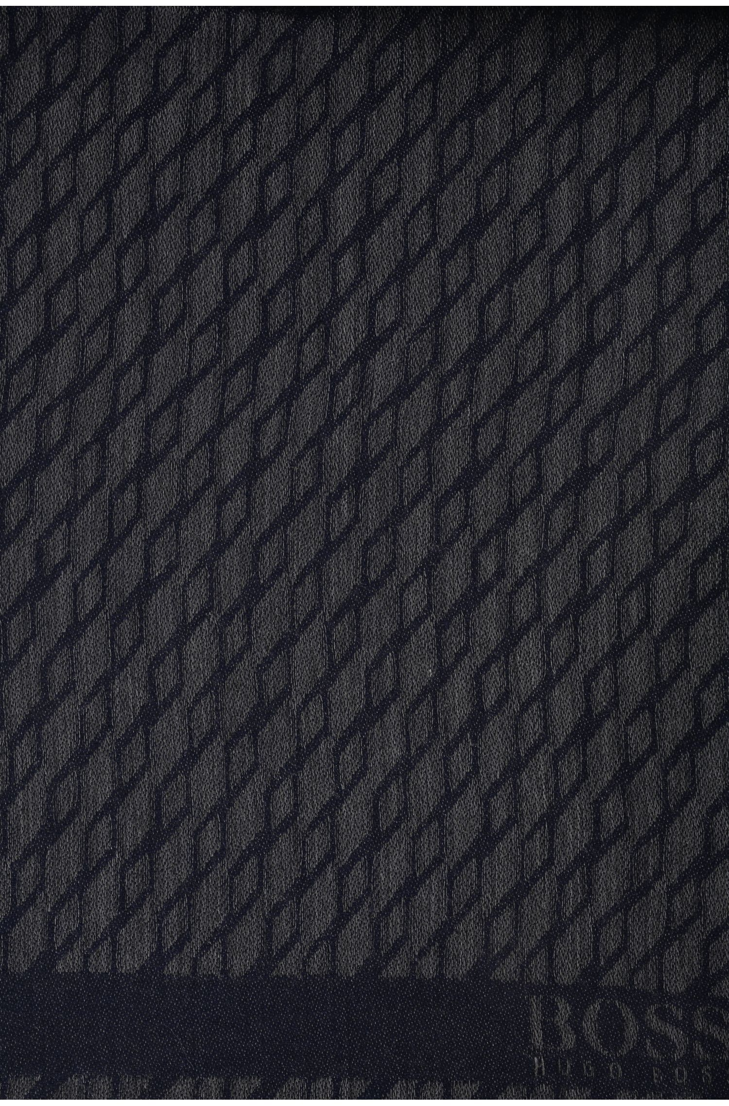 Écharpe à motif en coton mélangé: «C-Fidan»