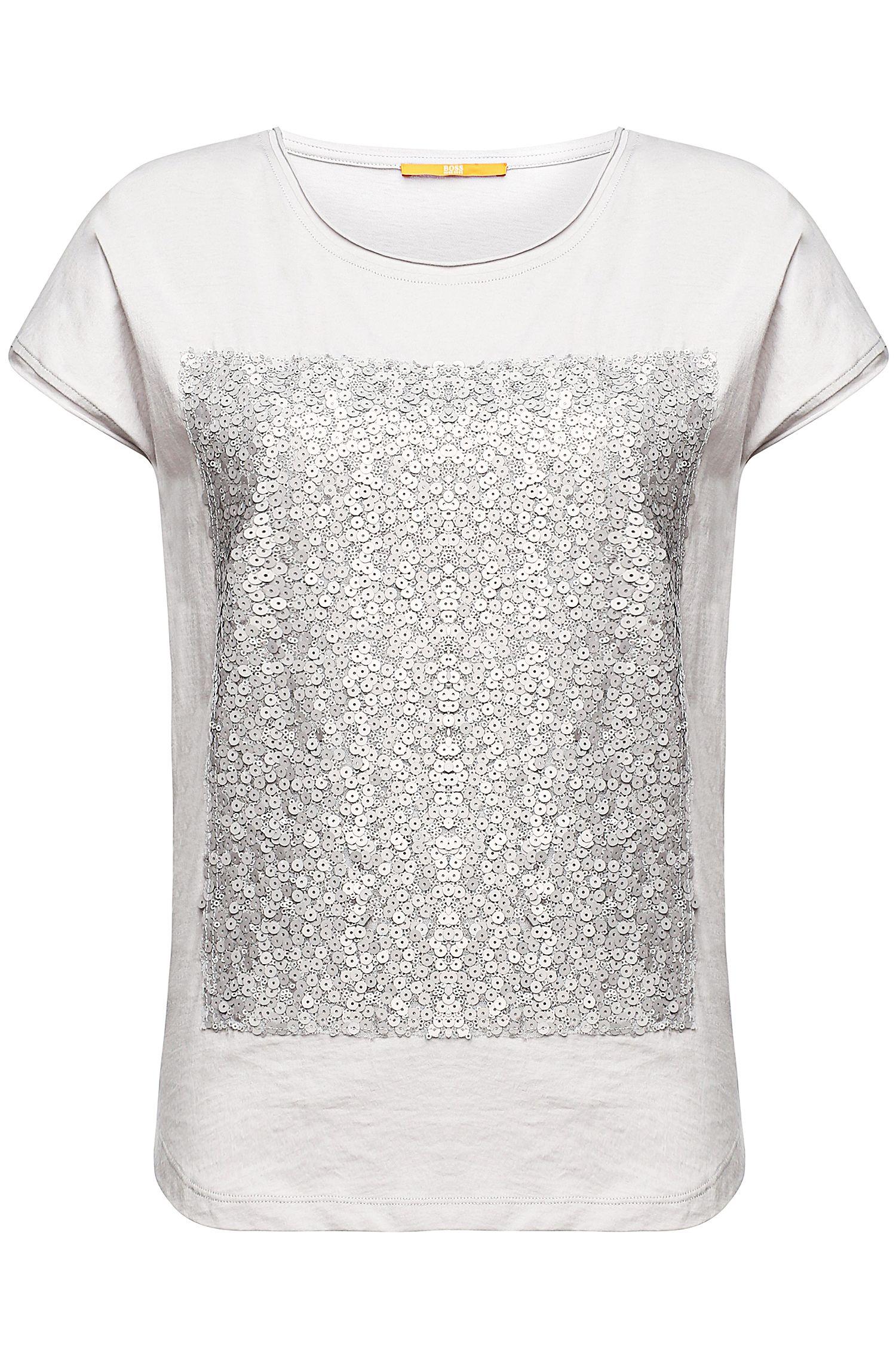 T-shirt avec décor en paillettes: «Taglam»