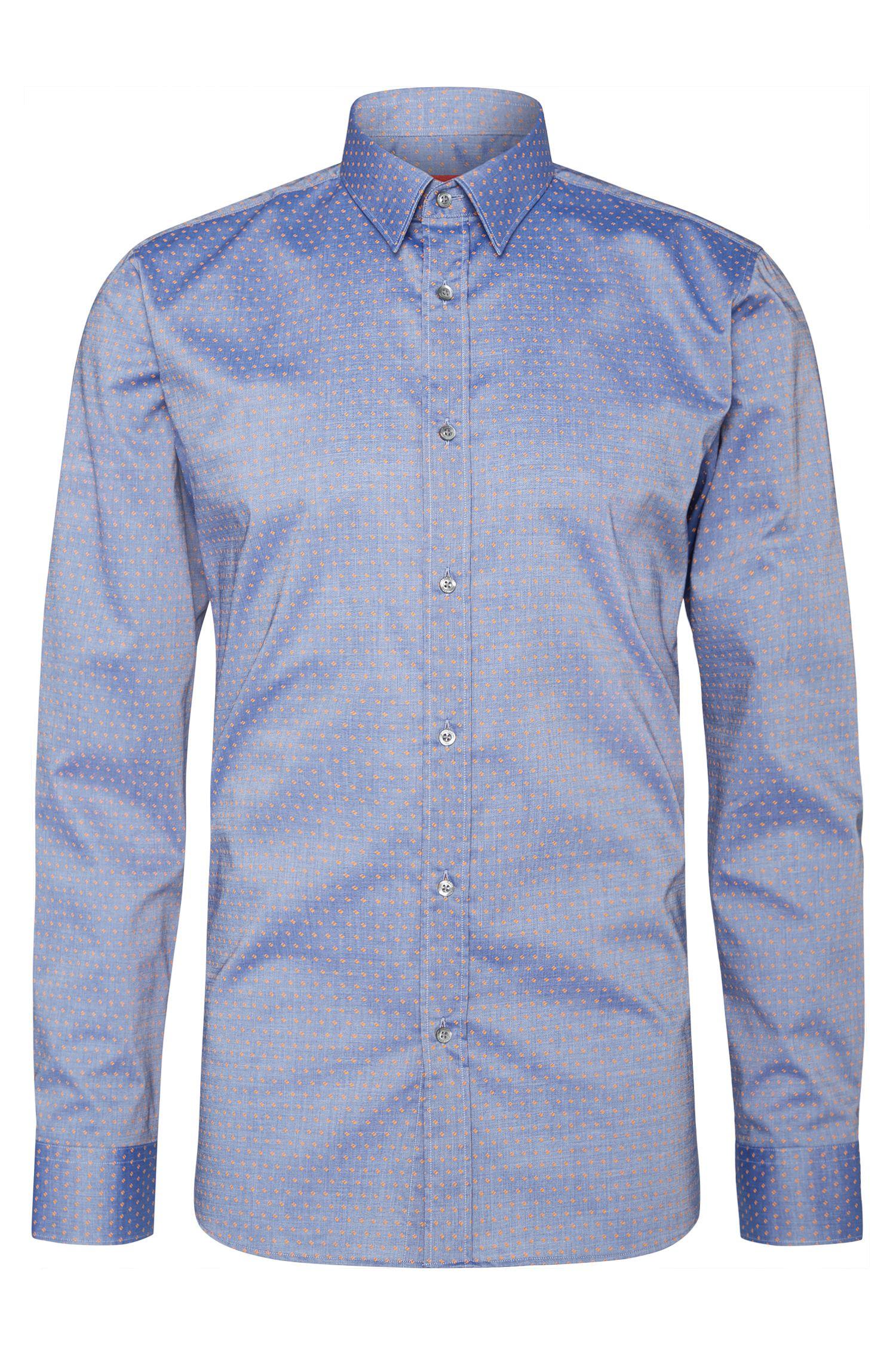 Slim-fit overhemd van katoen: 'Elisha'
