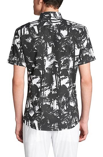 Slim-Fit Hemd aus Baumwolle: 'Empson', Schwarz