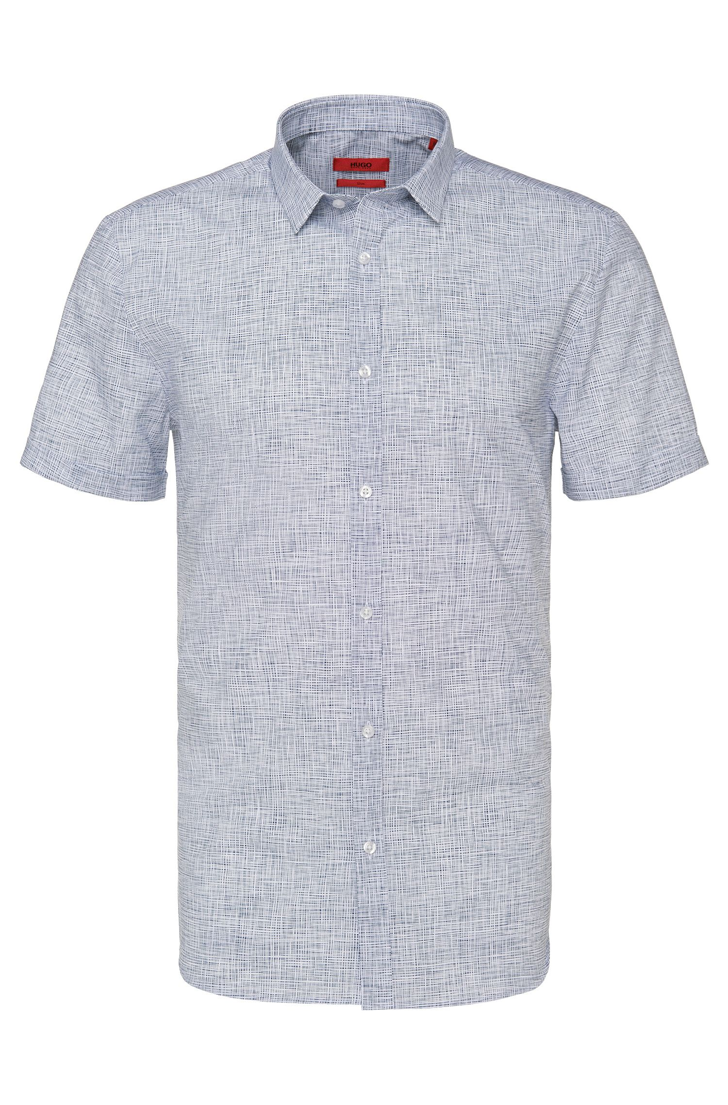 Chemise à manches courtes Slim Fit en coton à motif: «Empson»