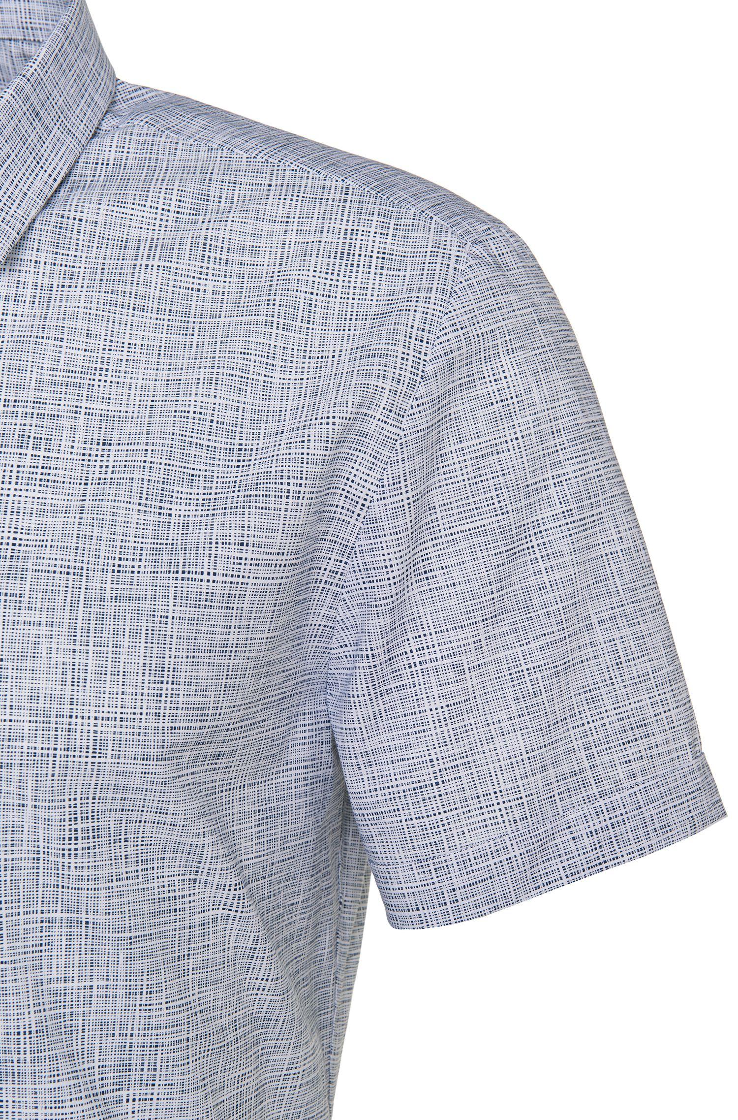 Gemustertes Slim-Fit Kurzarmhemd aus Baumwolle: 'Empson'