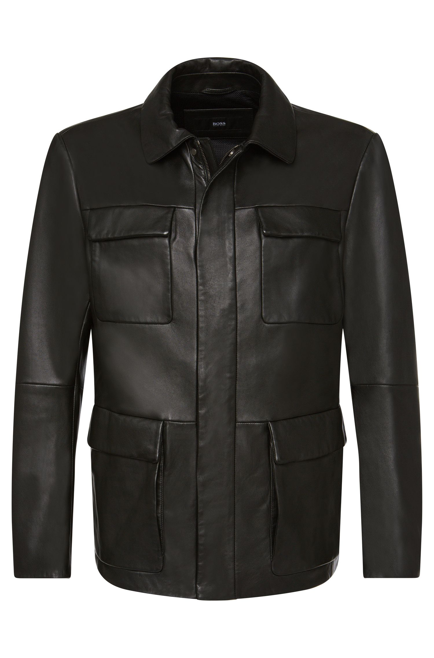 Blouson en cuir Regular Fit : « Girton »