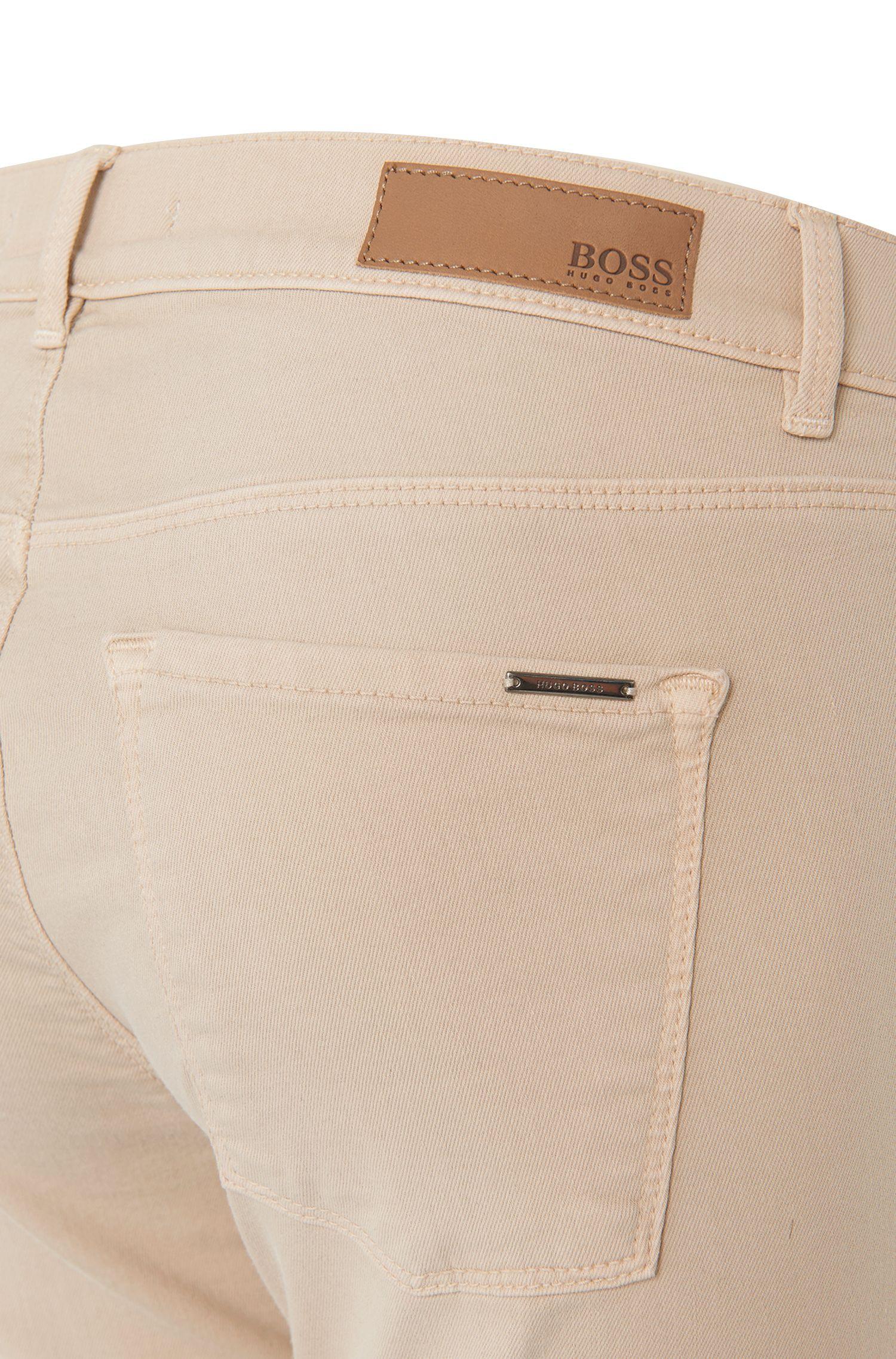 Jeans Slim Fit en coton mélangé: «Nafice Zip COLOURED»