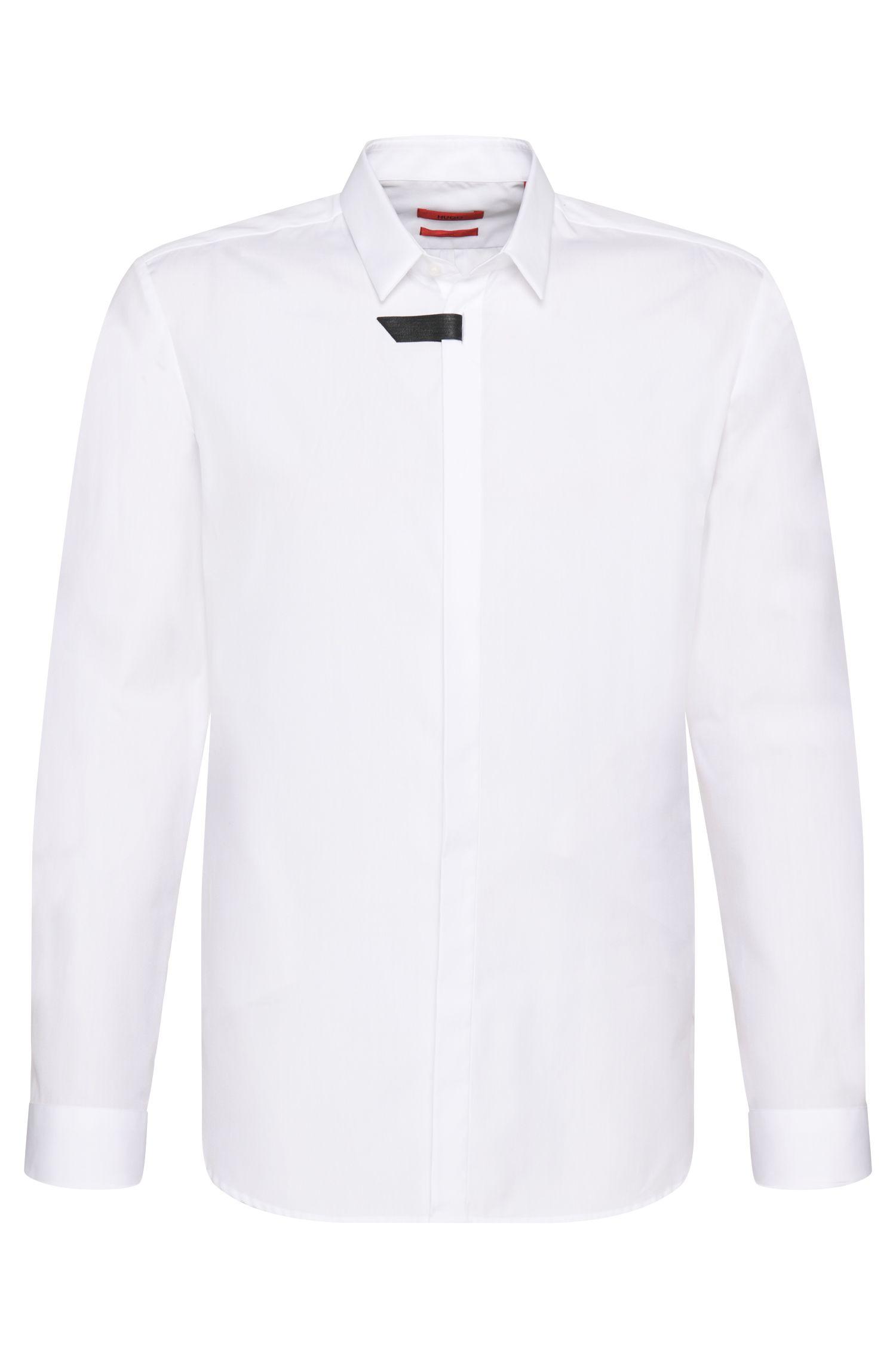 Slim-fit overhemd van katoen: 'Eliet'