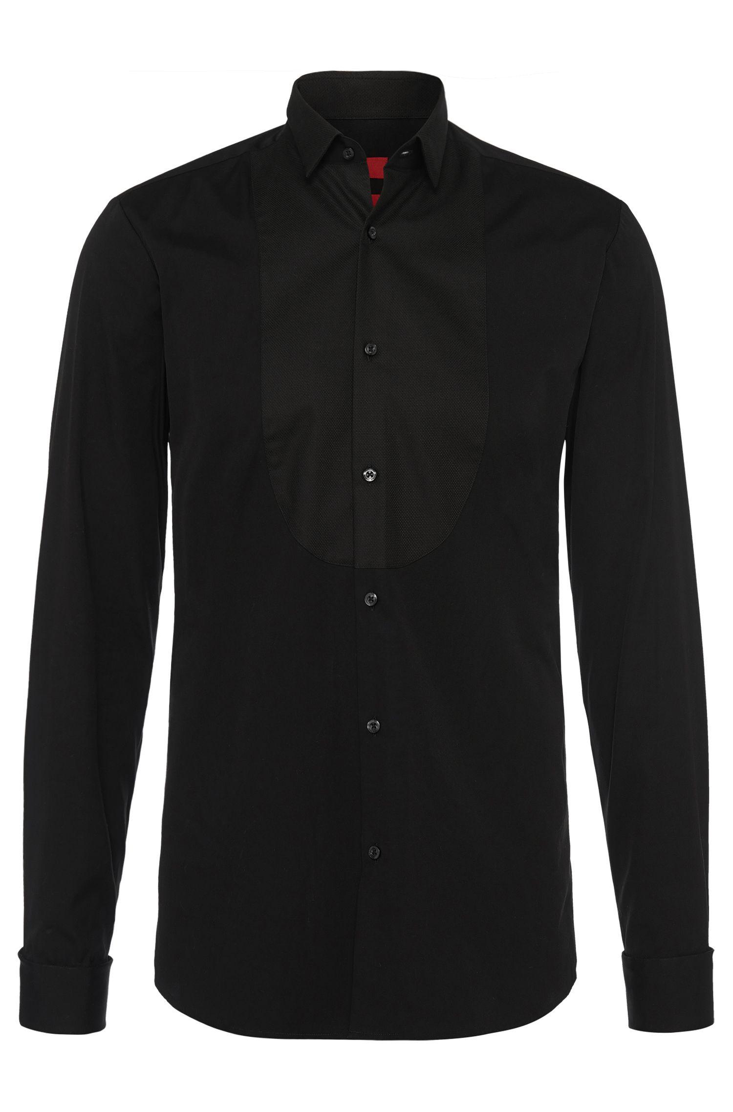Slim-fit overhemd van katoen: 'Epulet'