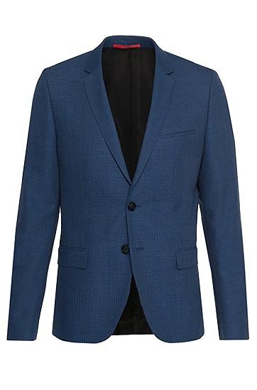 Veste de costume Slim Fit en laine vierge mélangée: «Arti», Bleu