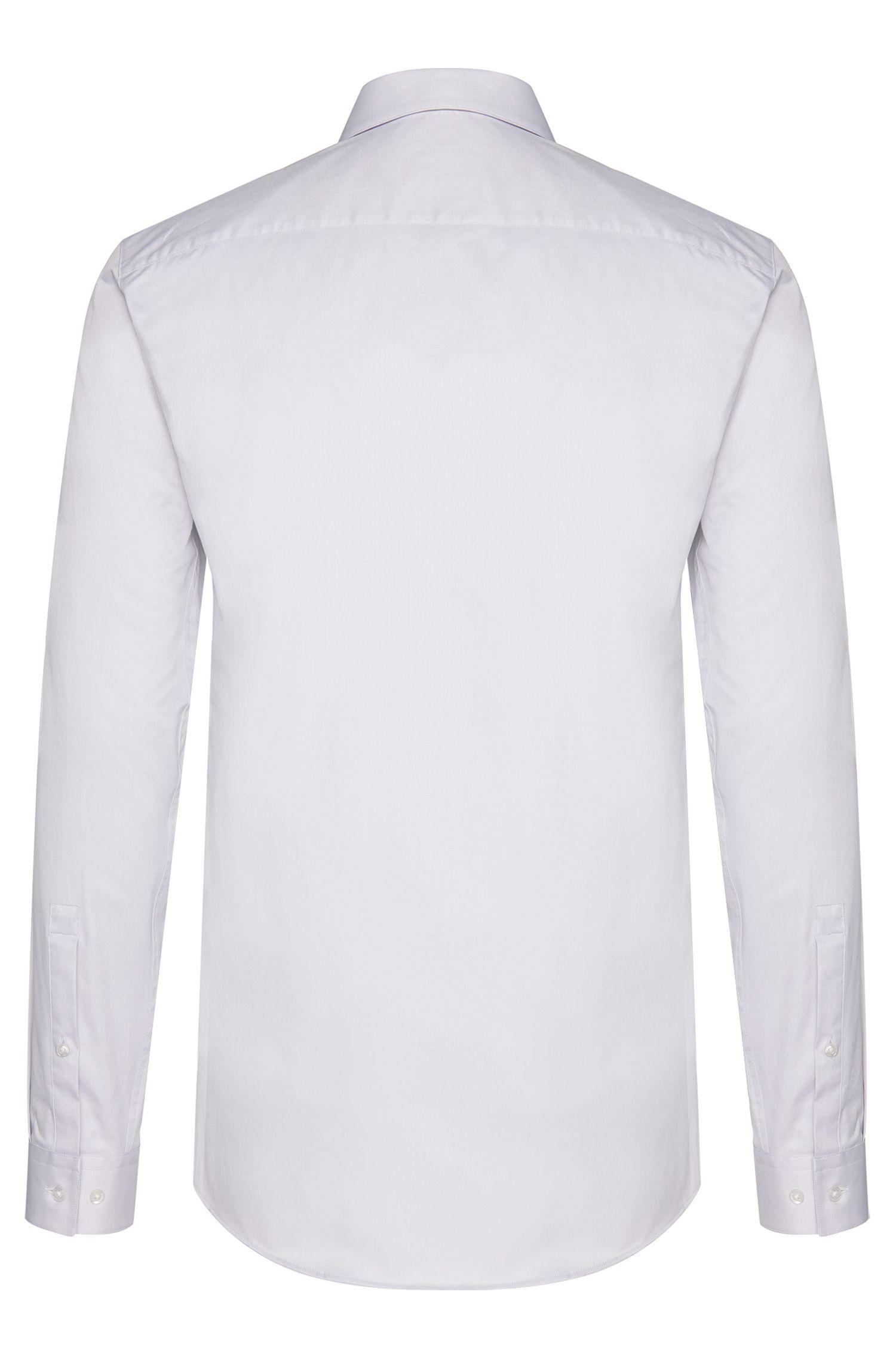 Unifarbenes Slim-Fit Hemd aus Baumwolle: 'Erondo'