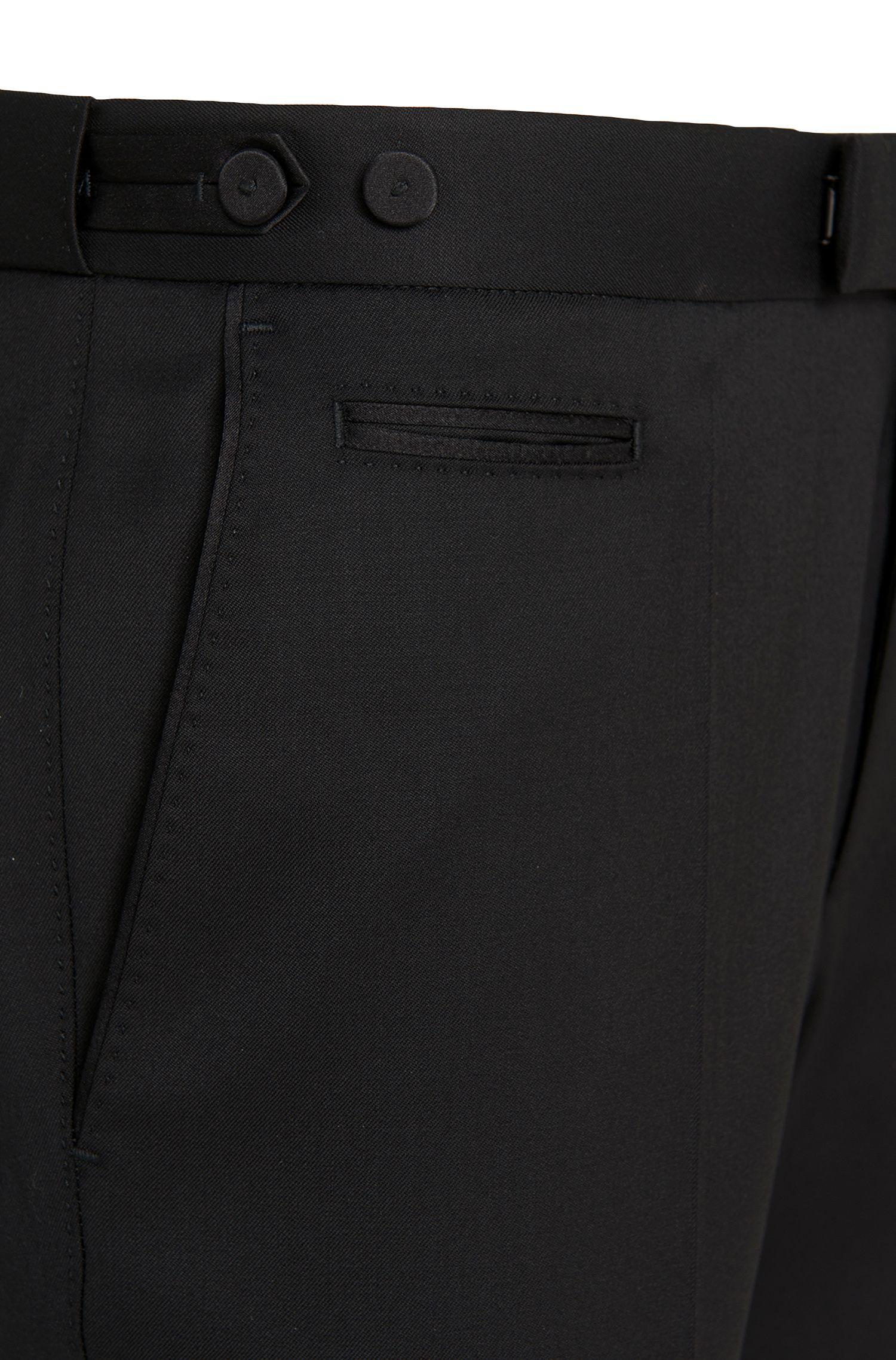 Pantalon coupe droite en laine vierge: «Glister»