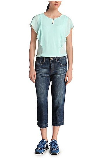 Regular-Fit Jeans in Dreiviertel-Länge: ´Orange J60 Hamptons`, Dunkelblau