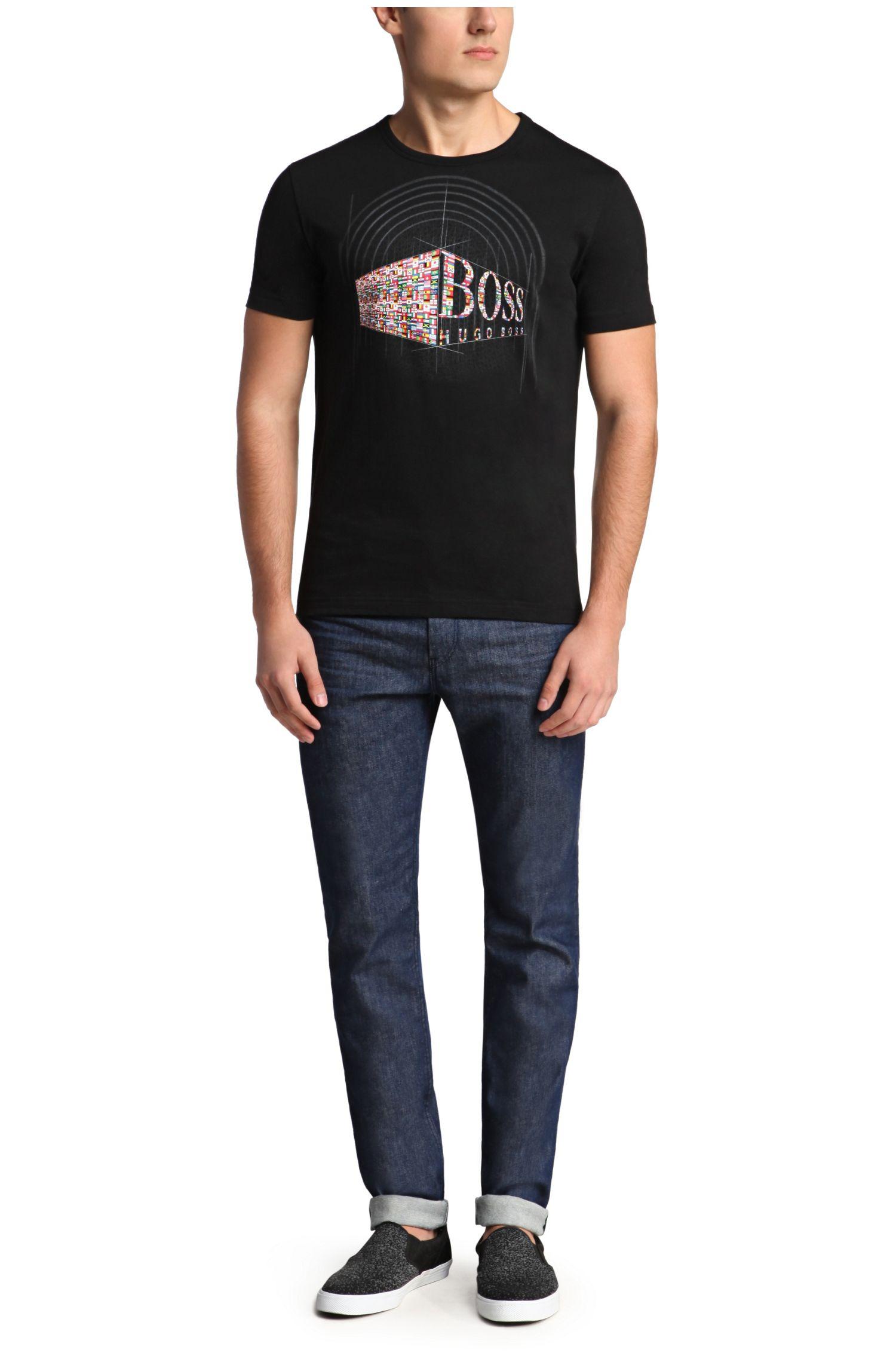 T-Shirt aus Baumwolle mit Frontprint: ´Tee Flag 3`