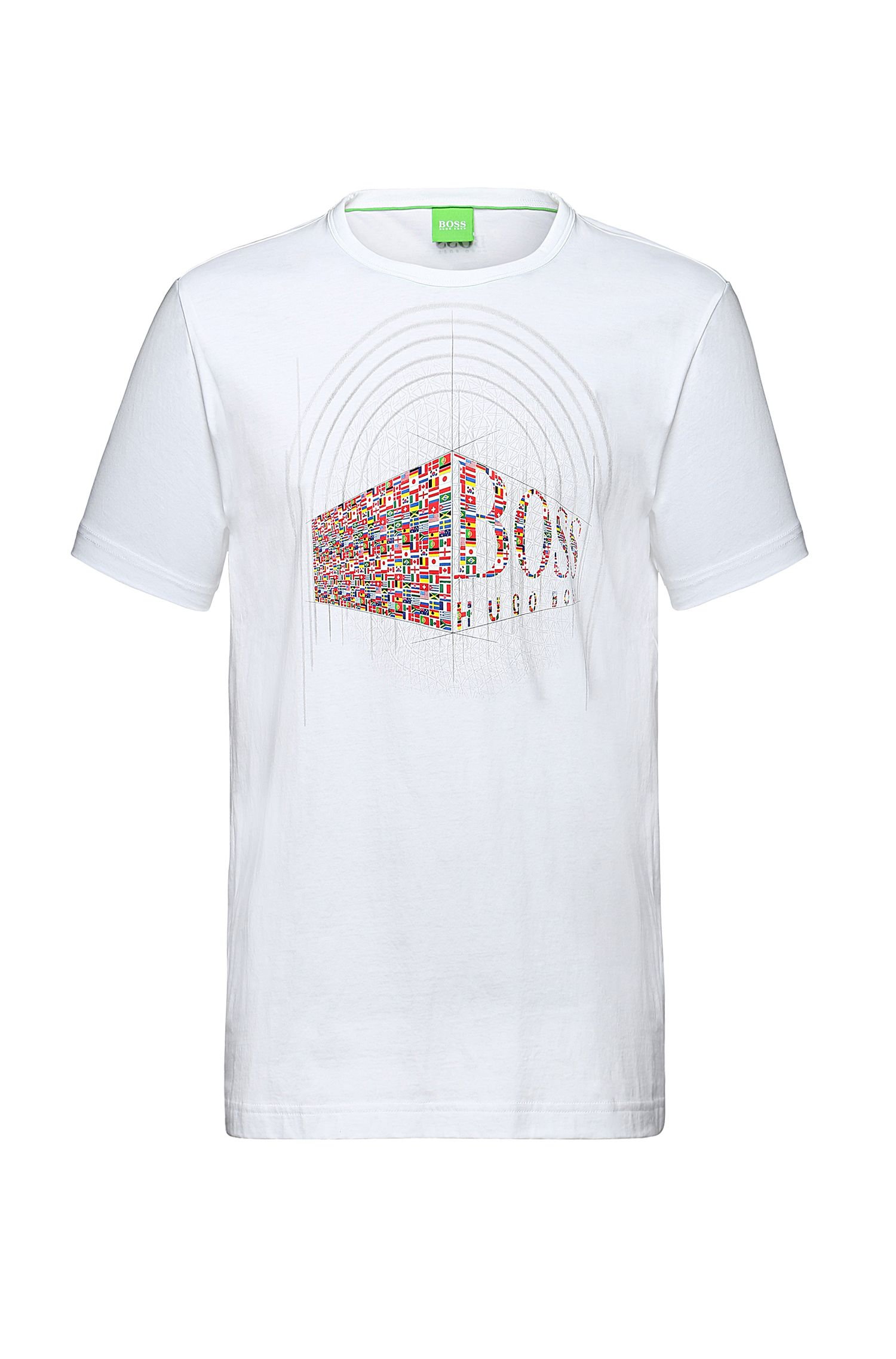 T-shirt in cotone con stampa frontale: 'Tee Flag 3'
