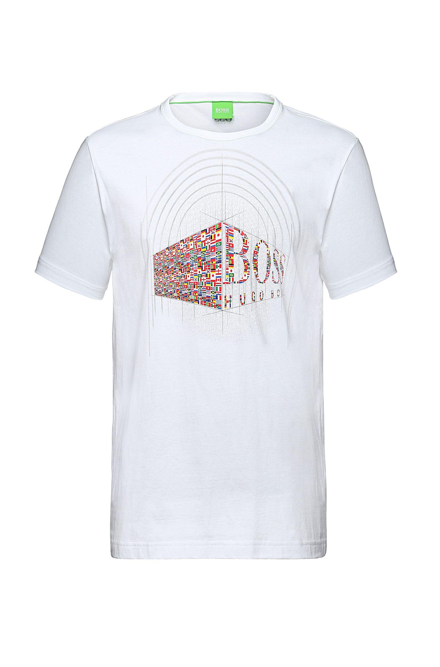 T-shirt en coton à imprimé sur le devant: «Tee Flag3»