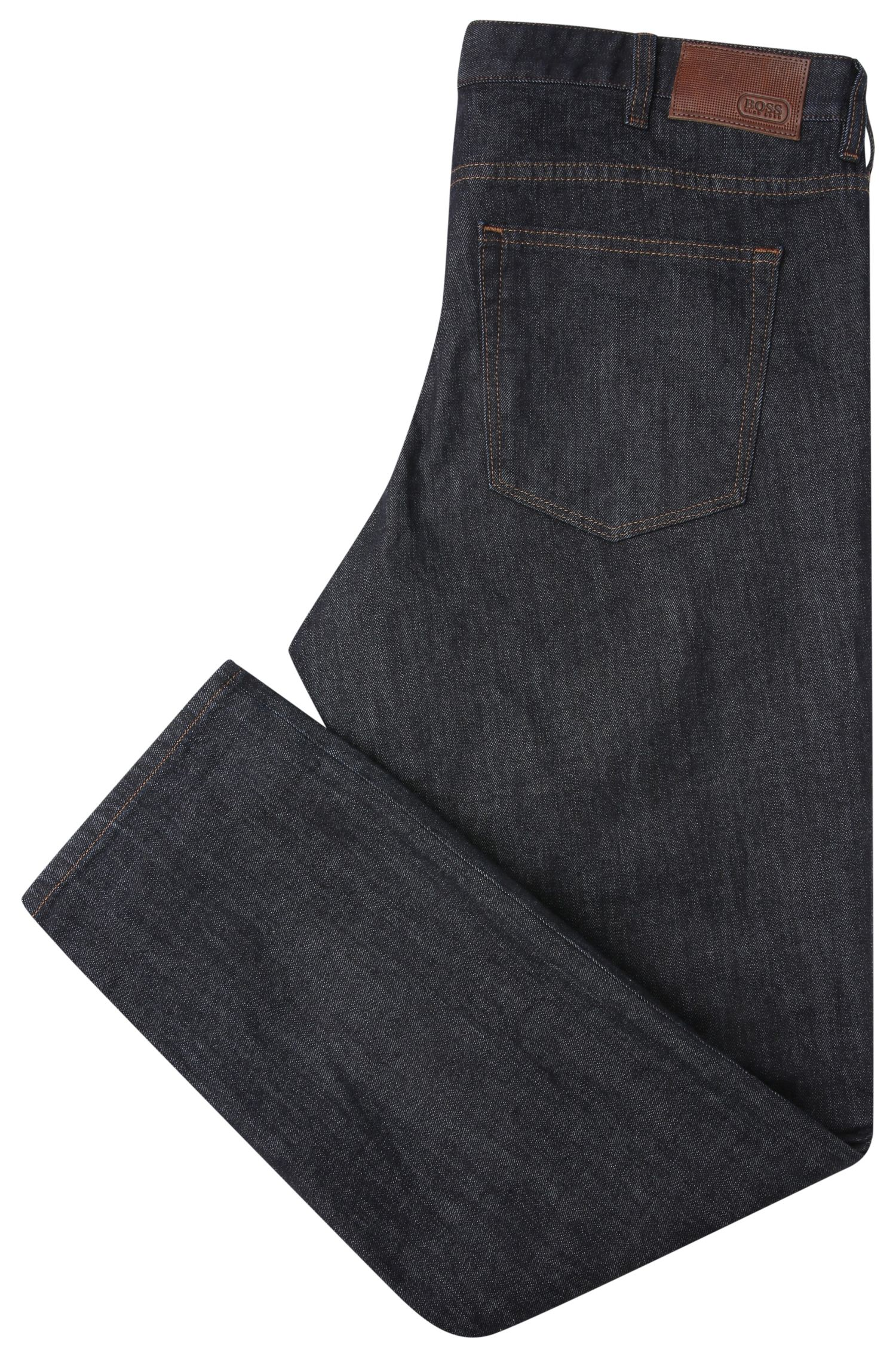 Jeans Regular Fit en coton extensible structuré : « C-B4 »