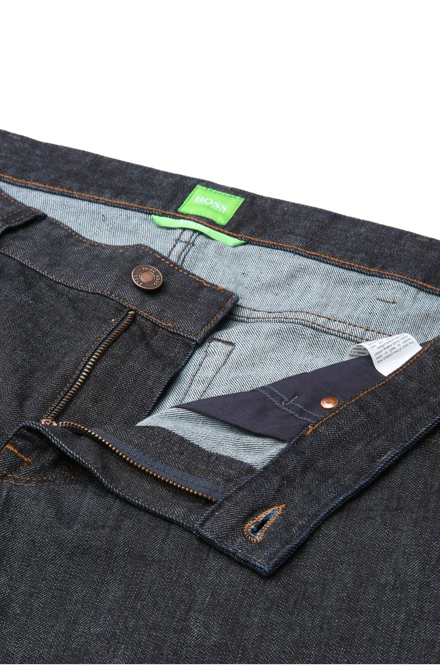 Regular-Fit Jeans aus strukturierter, elastischer Baumwolle: ´C-B4`