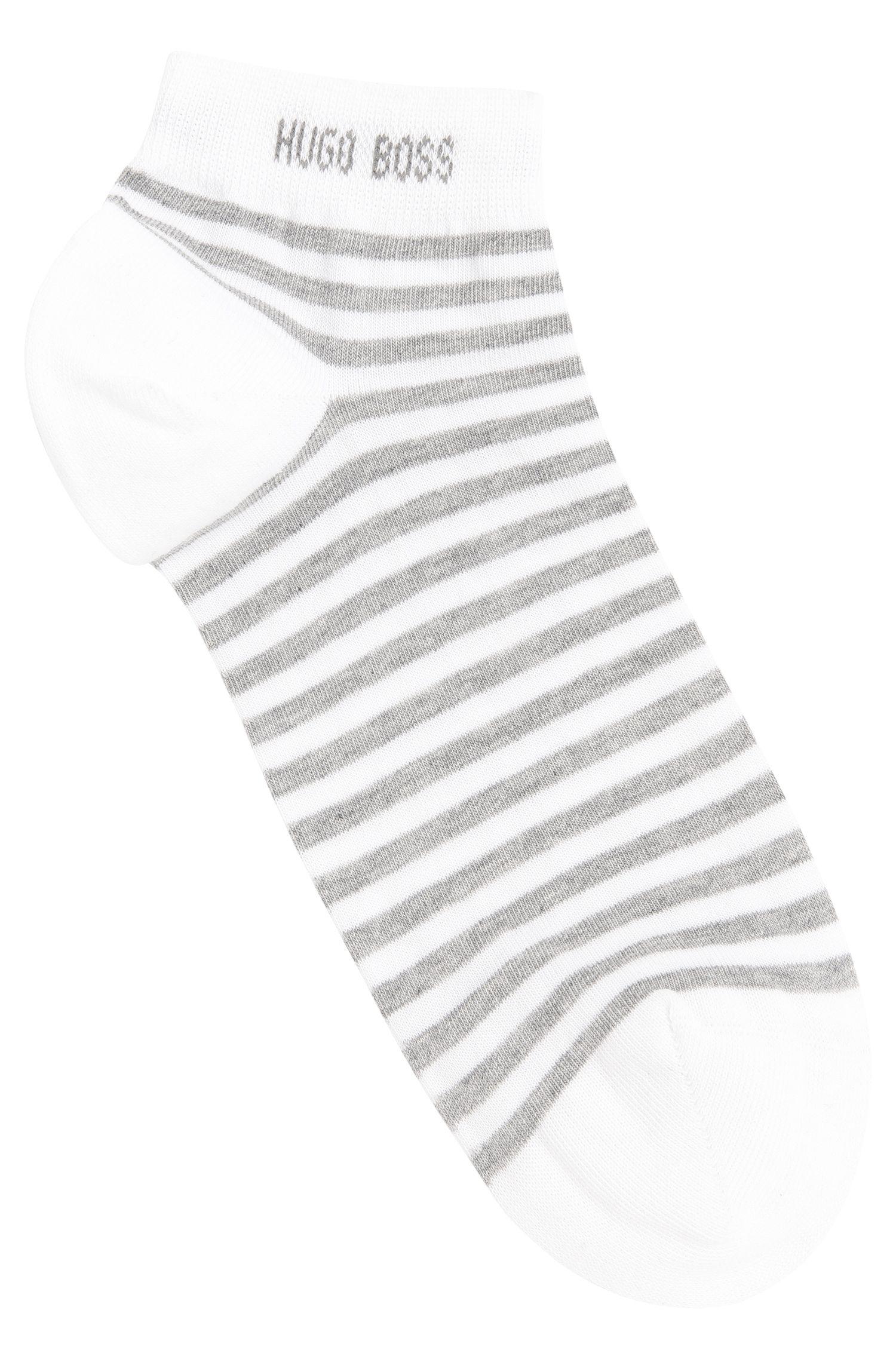 Striped trainer socks in stretch cotton: 'Marc sneaker Design'