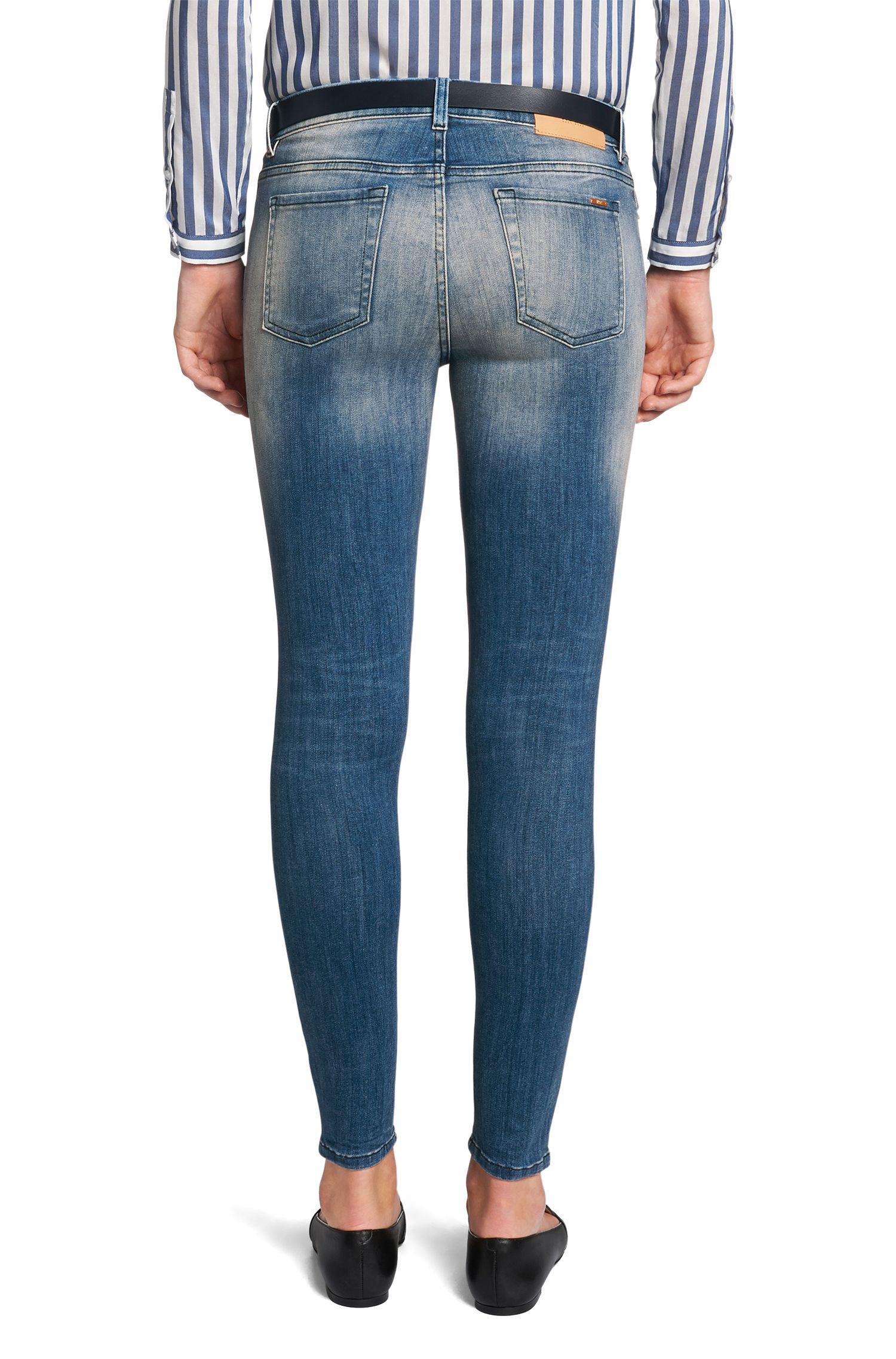 Jeans Extra Slim Fit en coton mélangé: «Gilljana»