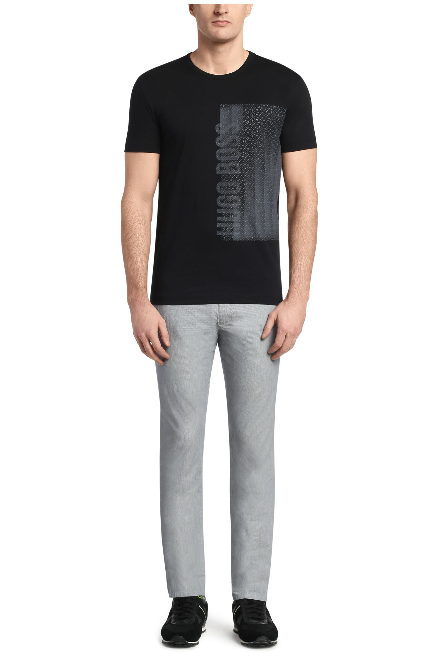 T-shirt en coton à imprimé sur le devant: «Tee4»