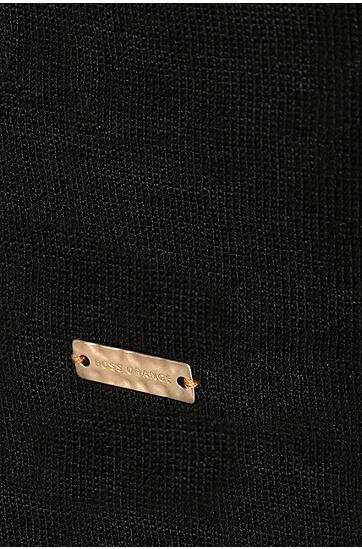Offener, asymmetrisch geschnittener Cardigan: ´Warellas`, Schwarz