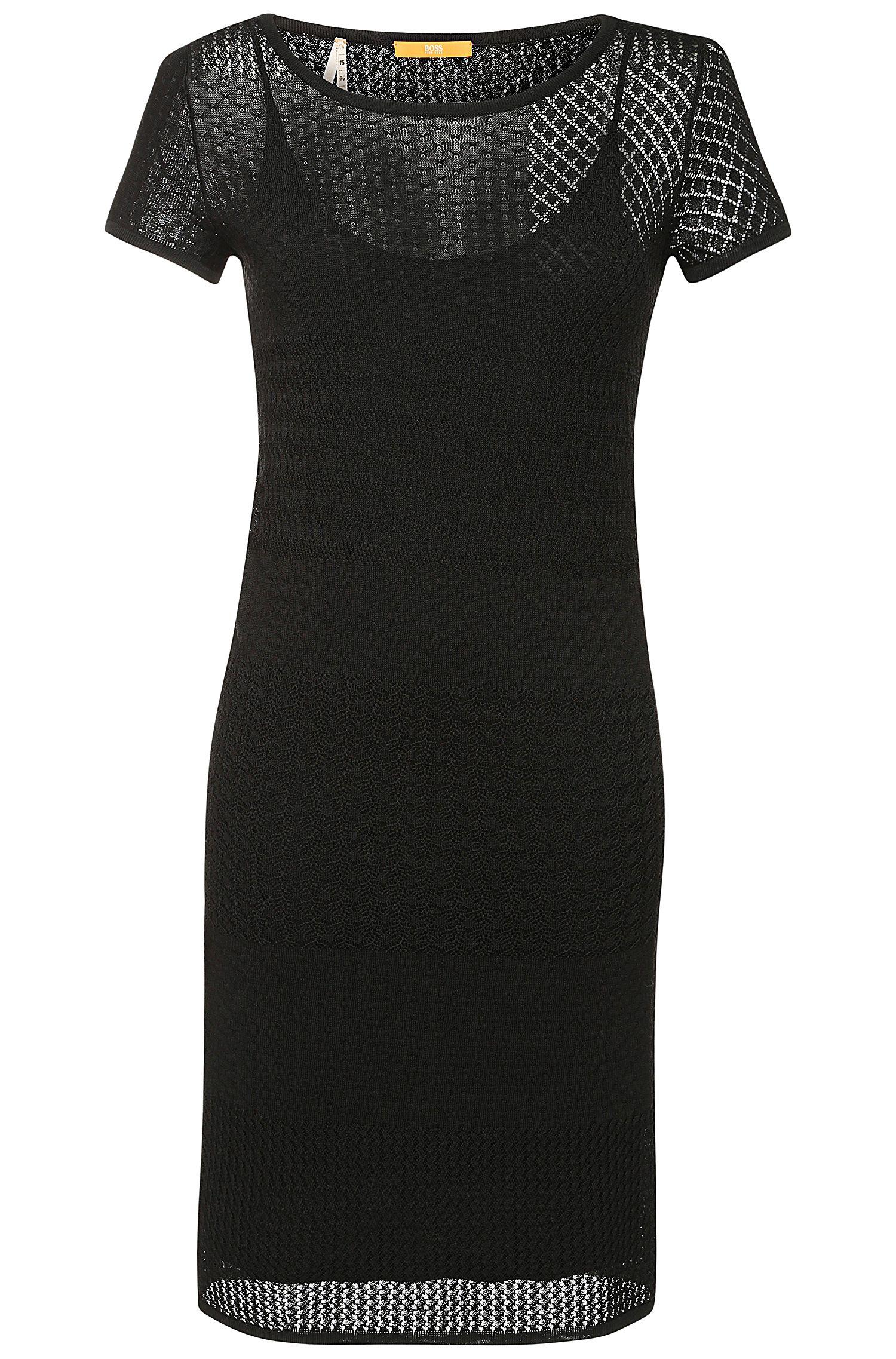 Viskose-Baumwoll-Kleid aus Lochstrick: ´Wistoriette`